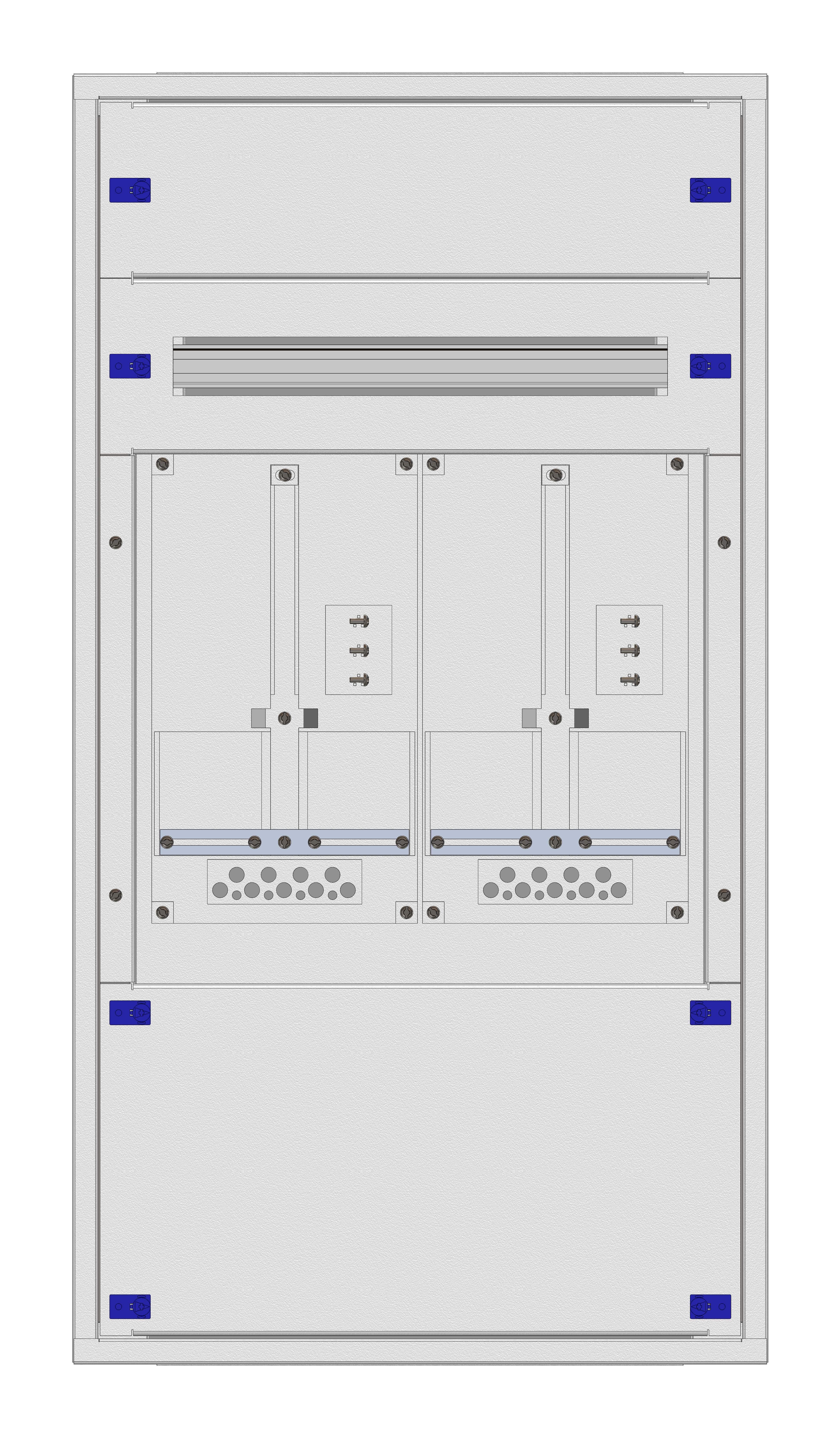 1 Stk Aufputz-Zählerverteiler 2A-21E/TIR 2ZP, H1055B590T250mm IL160221TS