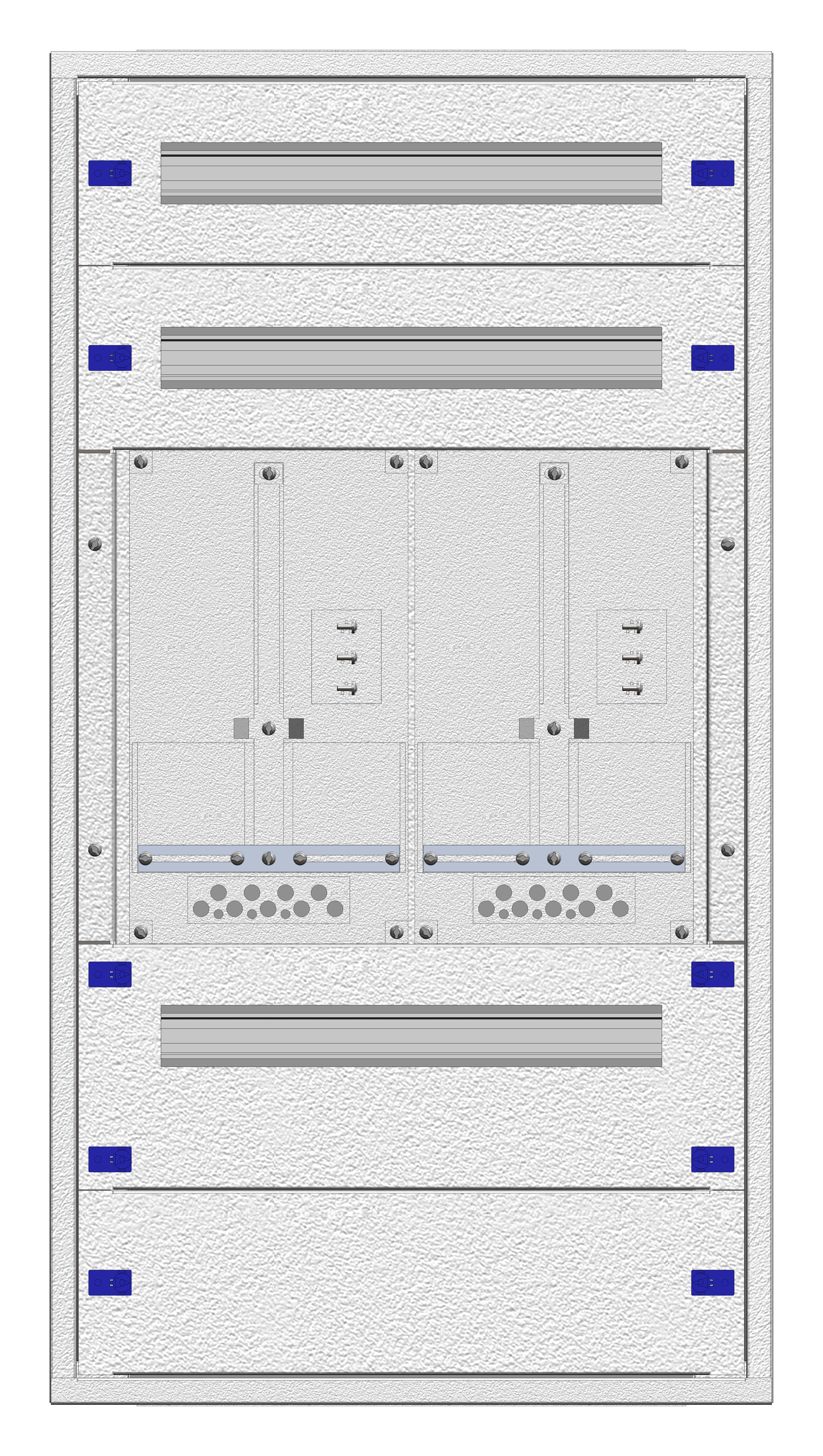 1 Stk Aufputz-Zählerverteiler 2A-21E/WIEN 2ZP, H1055B590T250mm IL160221WS