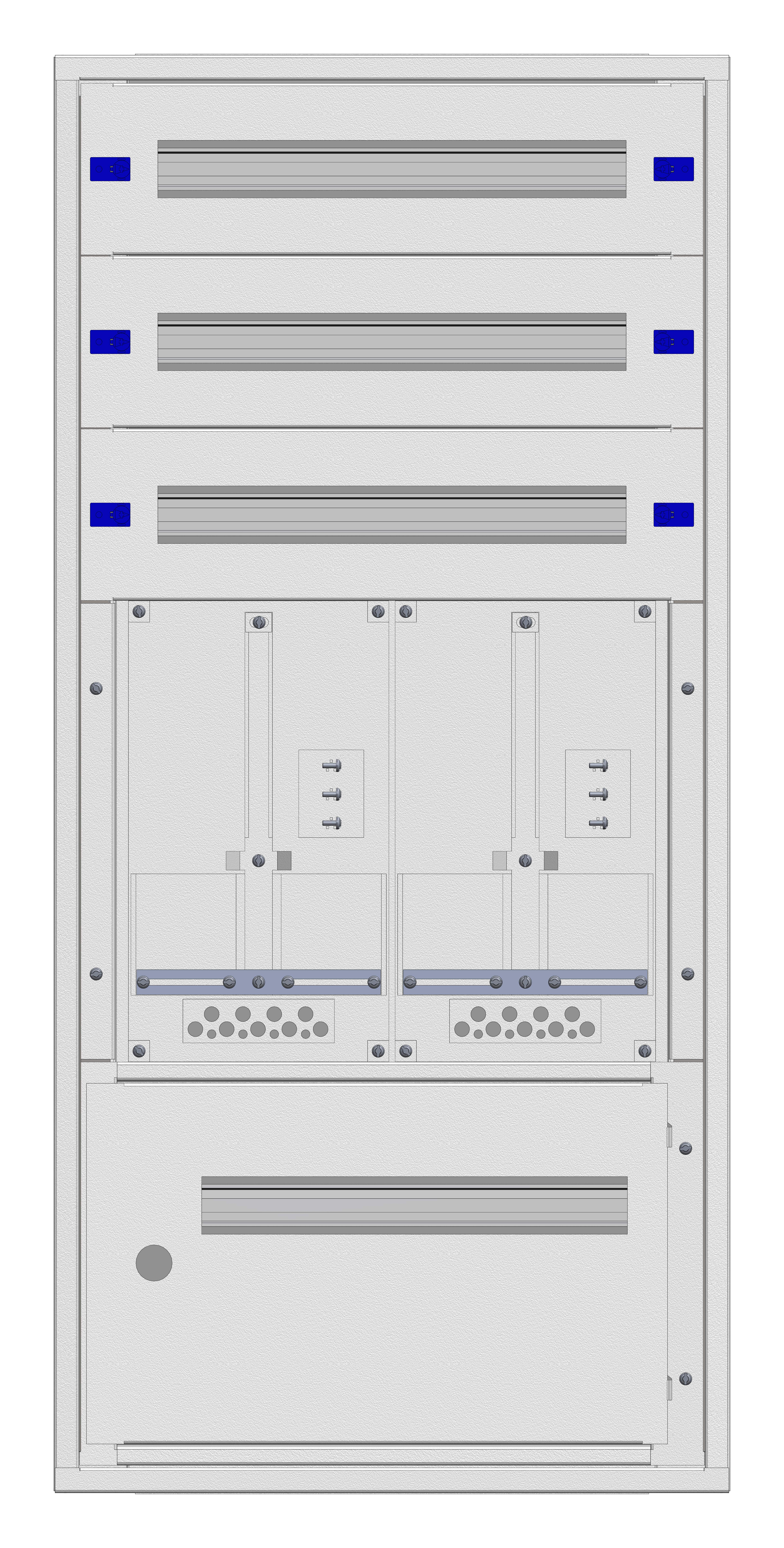 1 Stk Aufputz-Zählerverteiler 2A-24E/STMK 2ZP, H1195B590T250mm IL160224GS