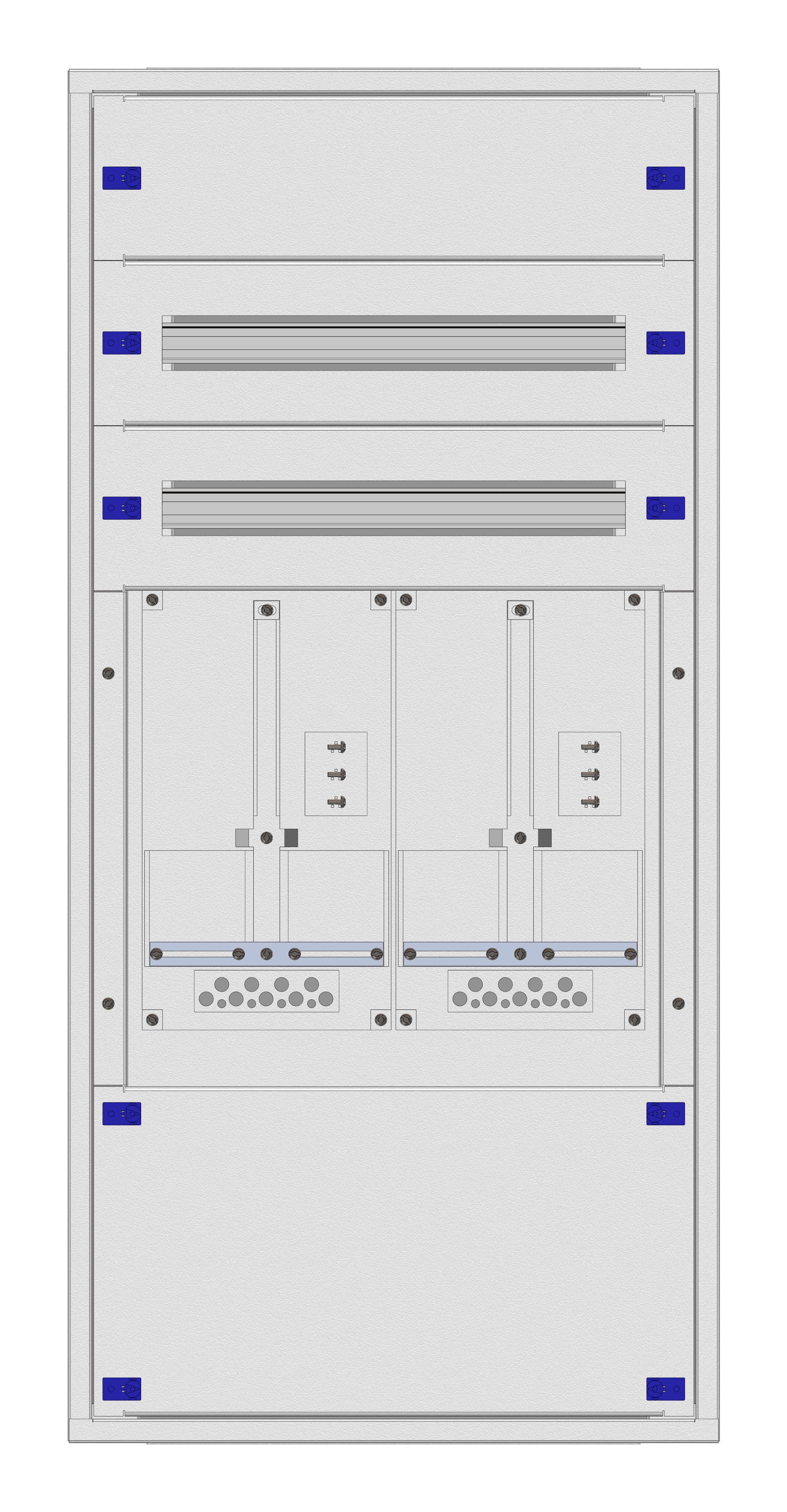 1 Stk Aufputz-Zählerverteiler 2A-24E/TIR 2ZP, H1195B590T250mm IL160224TS