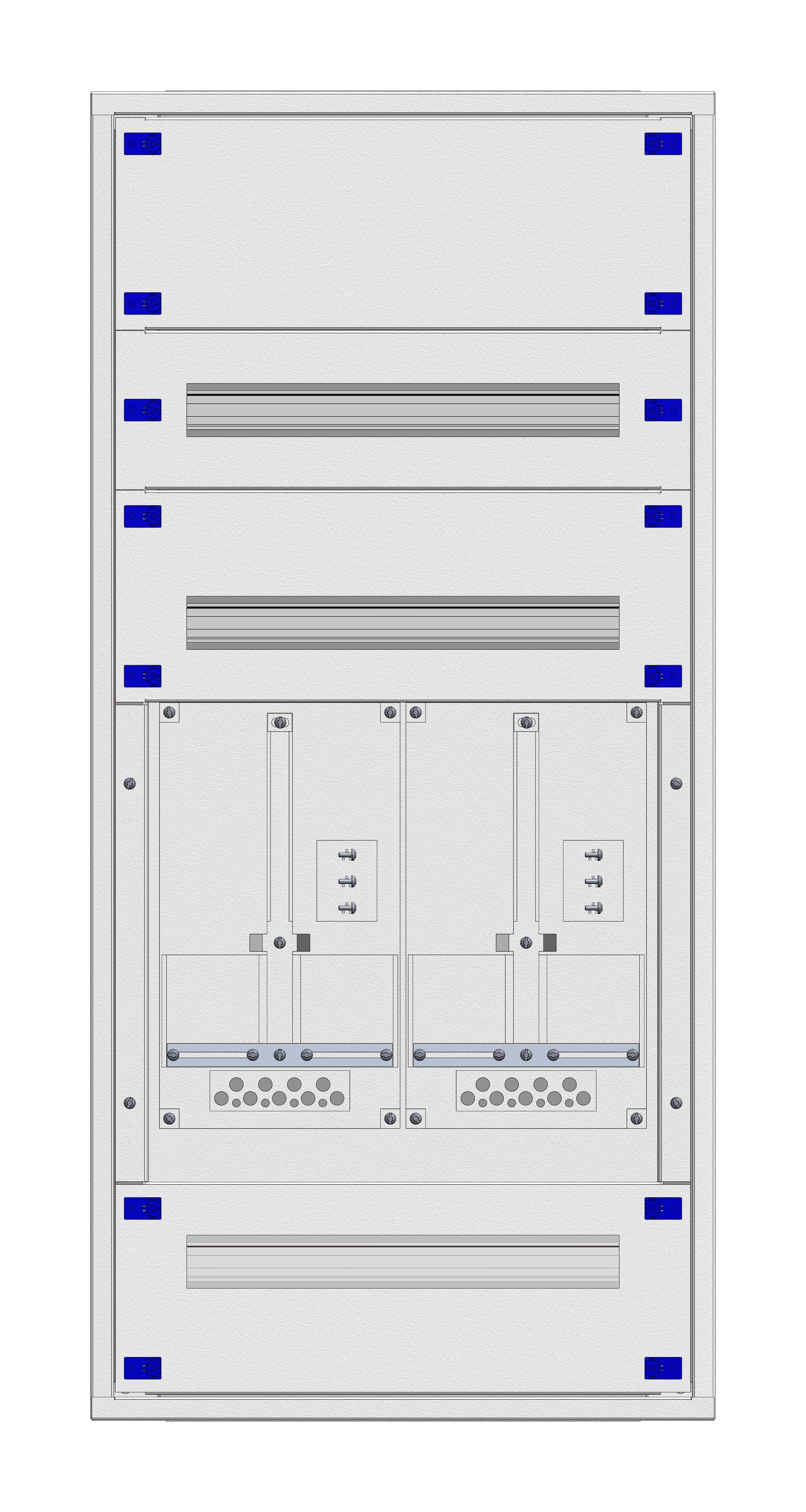 1 Stk Aufputz-Zählerverteiler 2A-24E/VBG 2ZP, H1195B590T250mm IL160224VS