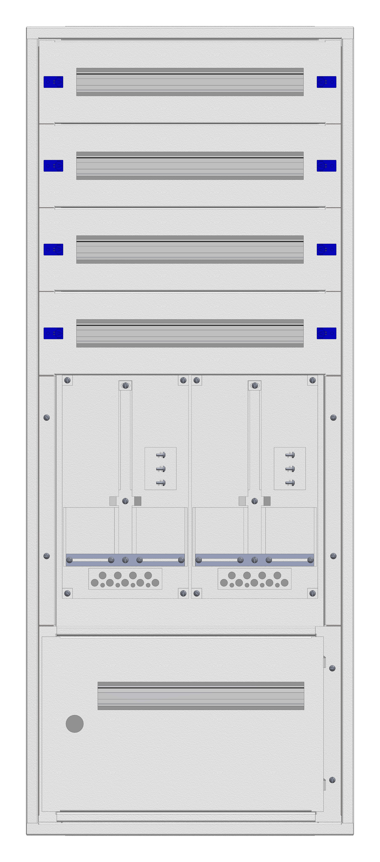 1 Stk Aufputz-Zählerverteiler 2A-28E/STMK 2ZP, H1380B590T250mm IL160228GS