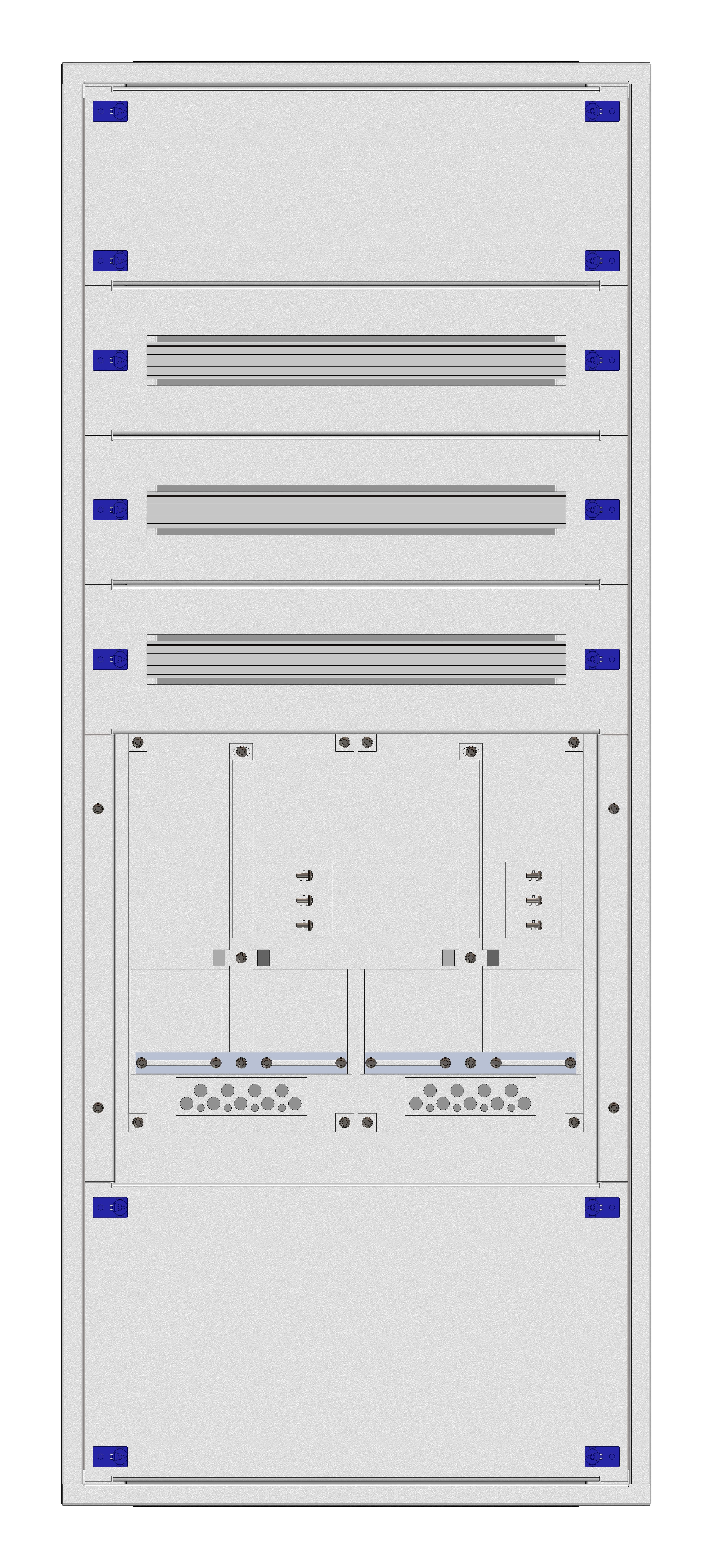 1 Stk Aufputz-Zählerverteiler 2A-28E/TIR 2ZP, H1380B590T250mm IL160228TS