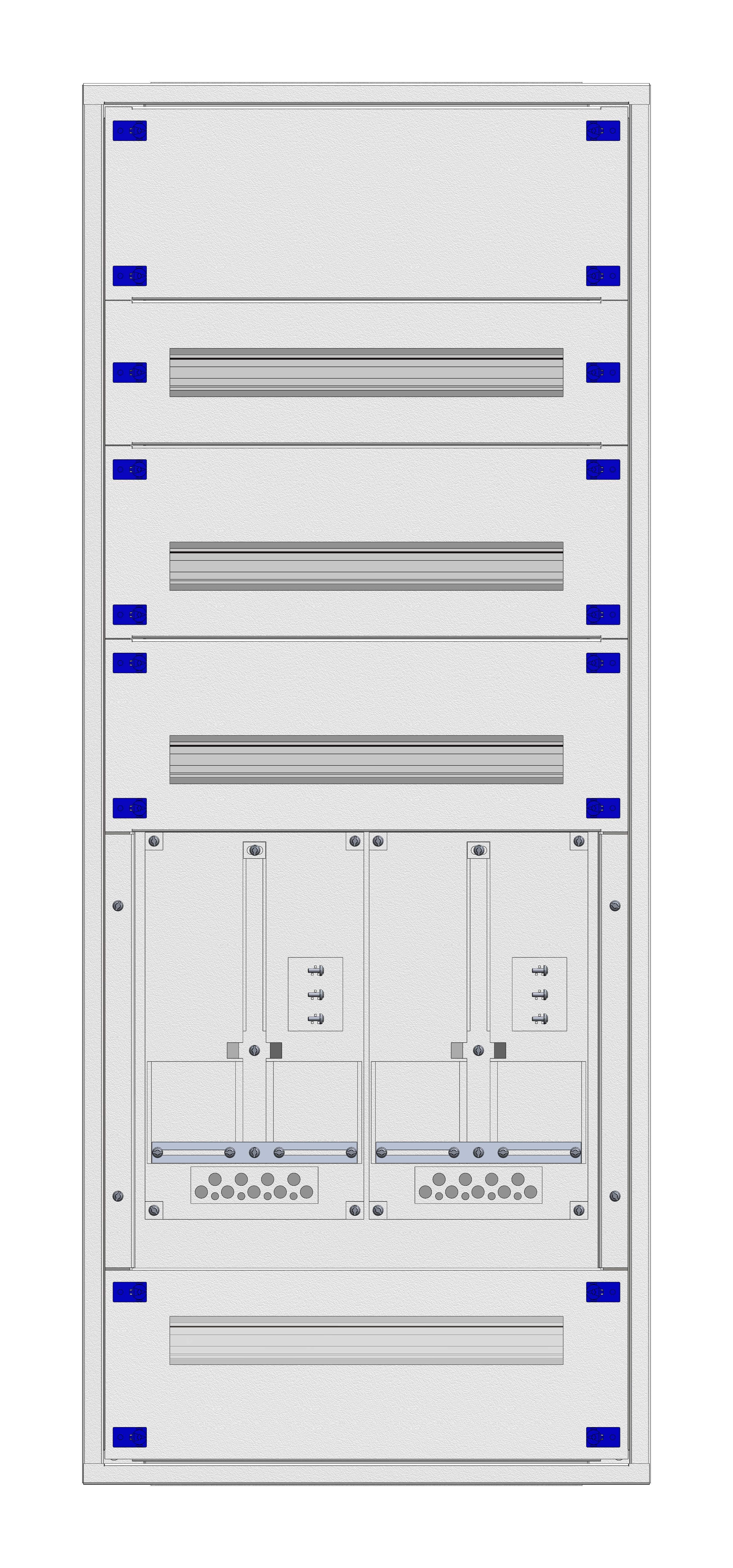 1 Stk Aufputz-Zählerverteiler 2A-28E/VBG 2ZP, H1380B590T250mm IL160228VS
