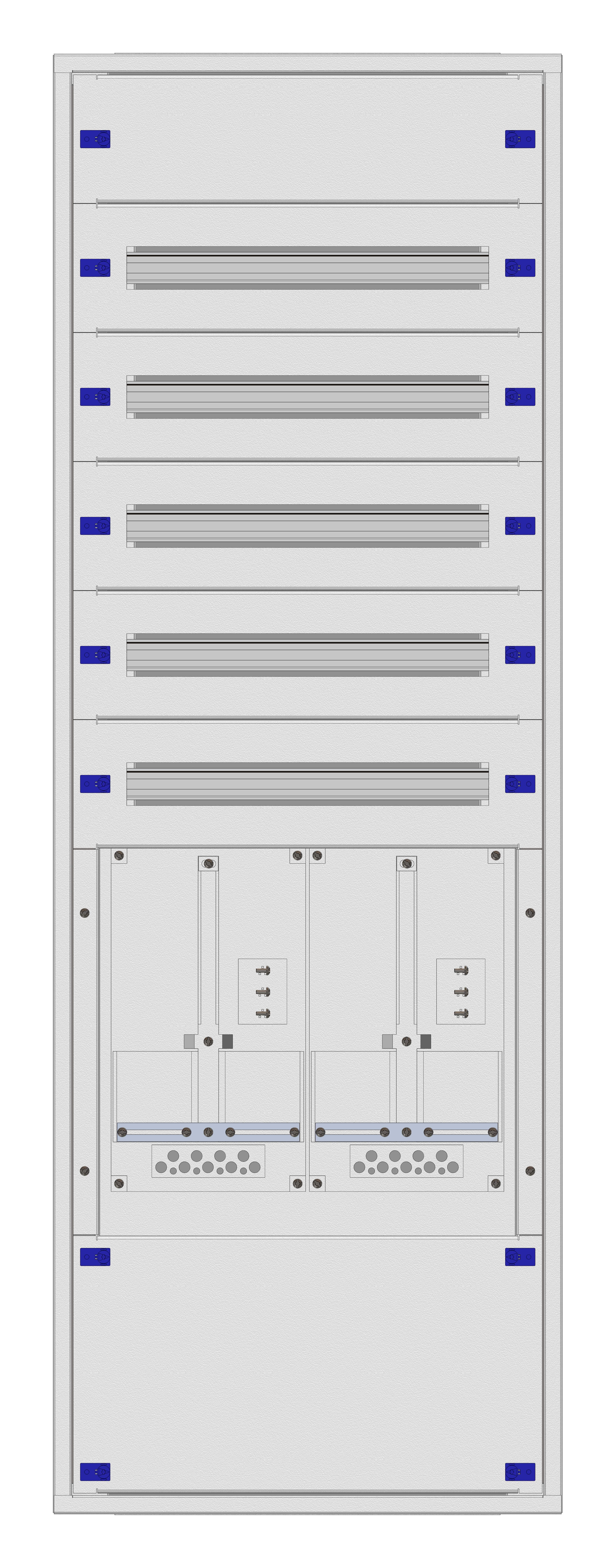 1 Stk Aufputz-Zählerverteiler 2A-33E/TIR 2ZP, H1605B590T250mm IL160233TS