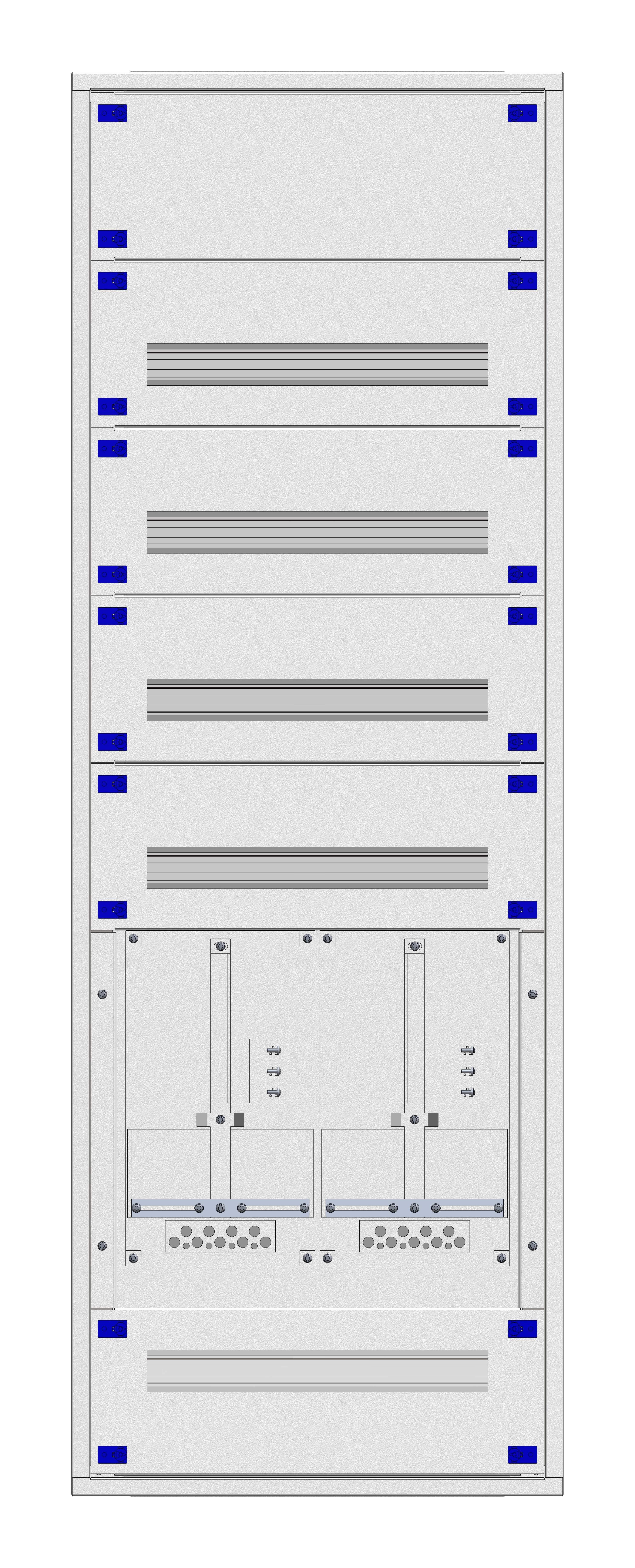1 Stk Aufputz-Zählerverteiler 2A-33E/VBG 2ZP, H1605B590T250mm IL160233VS
