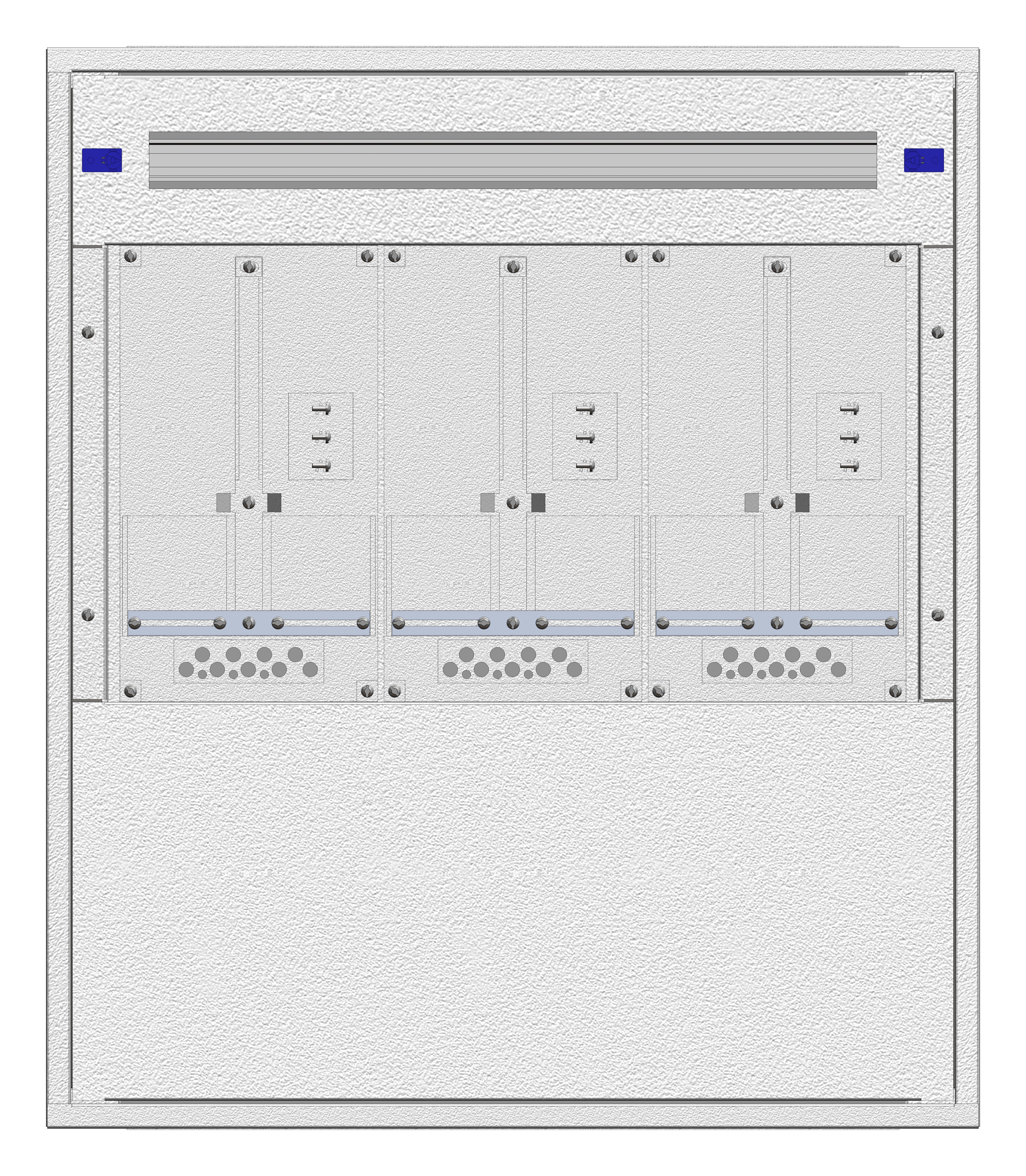 1 Stk Aufputz-Zählerverteiler 3A-18E/NOE 3ZP, H915B810T250mm IL160318NS