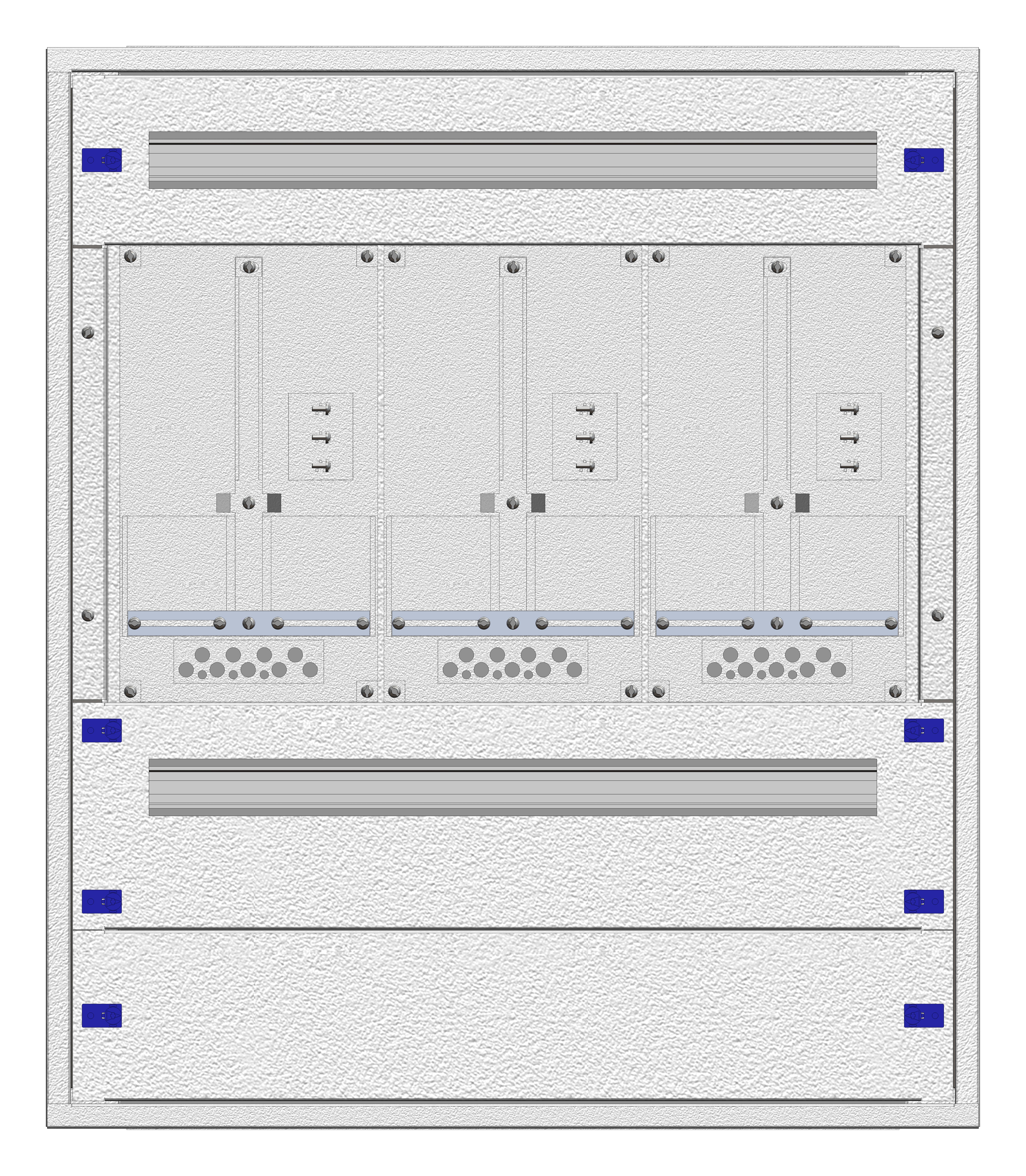 1 Stk Aufputz-Zählerverteiler 3A-18E/WIEN 3ZP, H915B810T250mm IL160318WS
