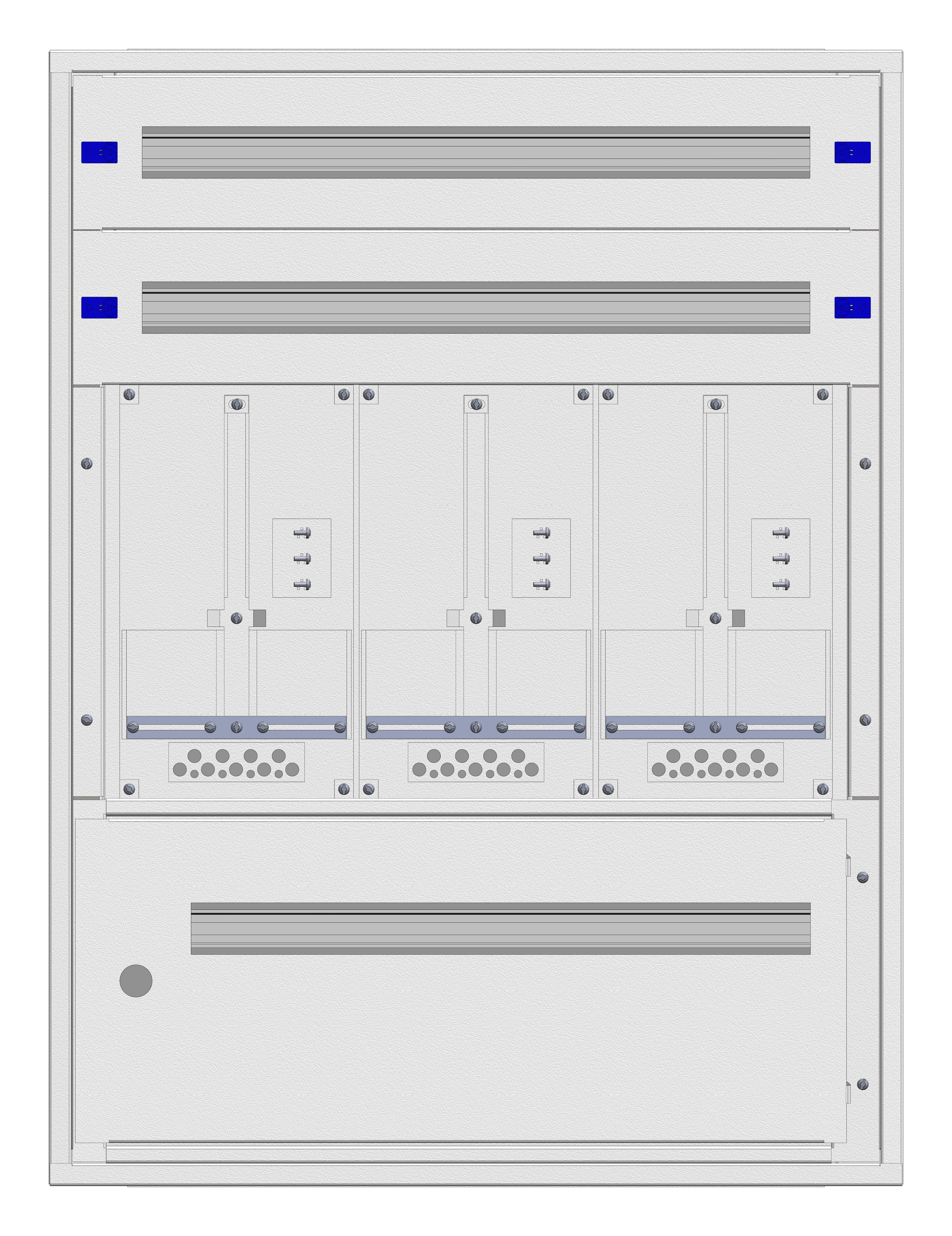1 Stk Aufputz-Zählerverteiler 3A-21E/STMK 3ZP, H1055B810T250mm IL160321GS