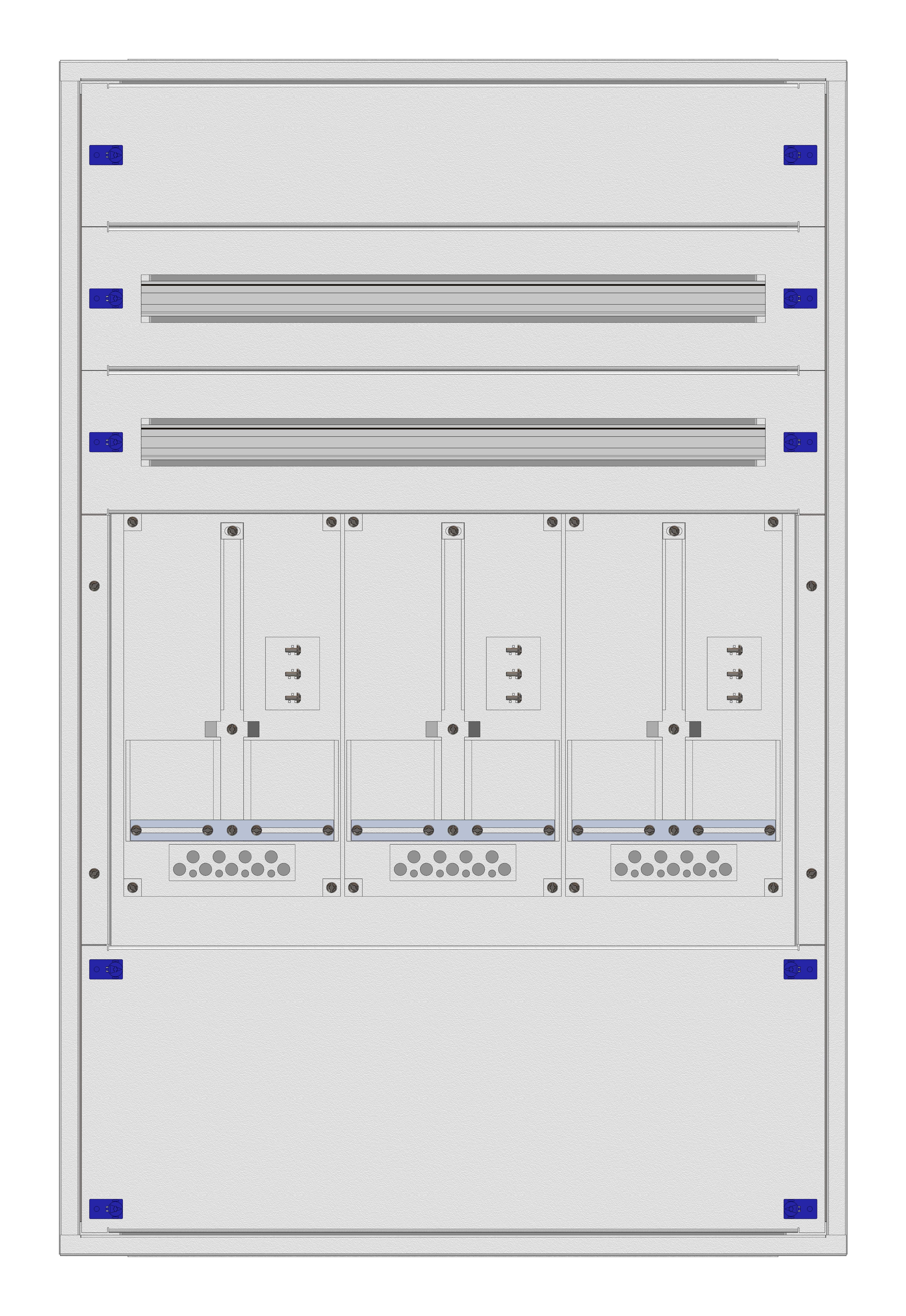 1 Stk Aufputz-Zählerverteiler 3A-24E/TIR 3ZP, H1195B810T250mm IL160324TS