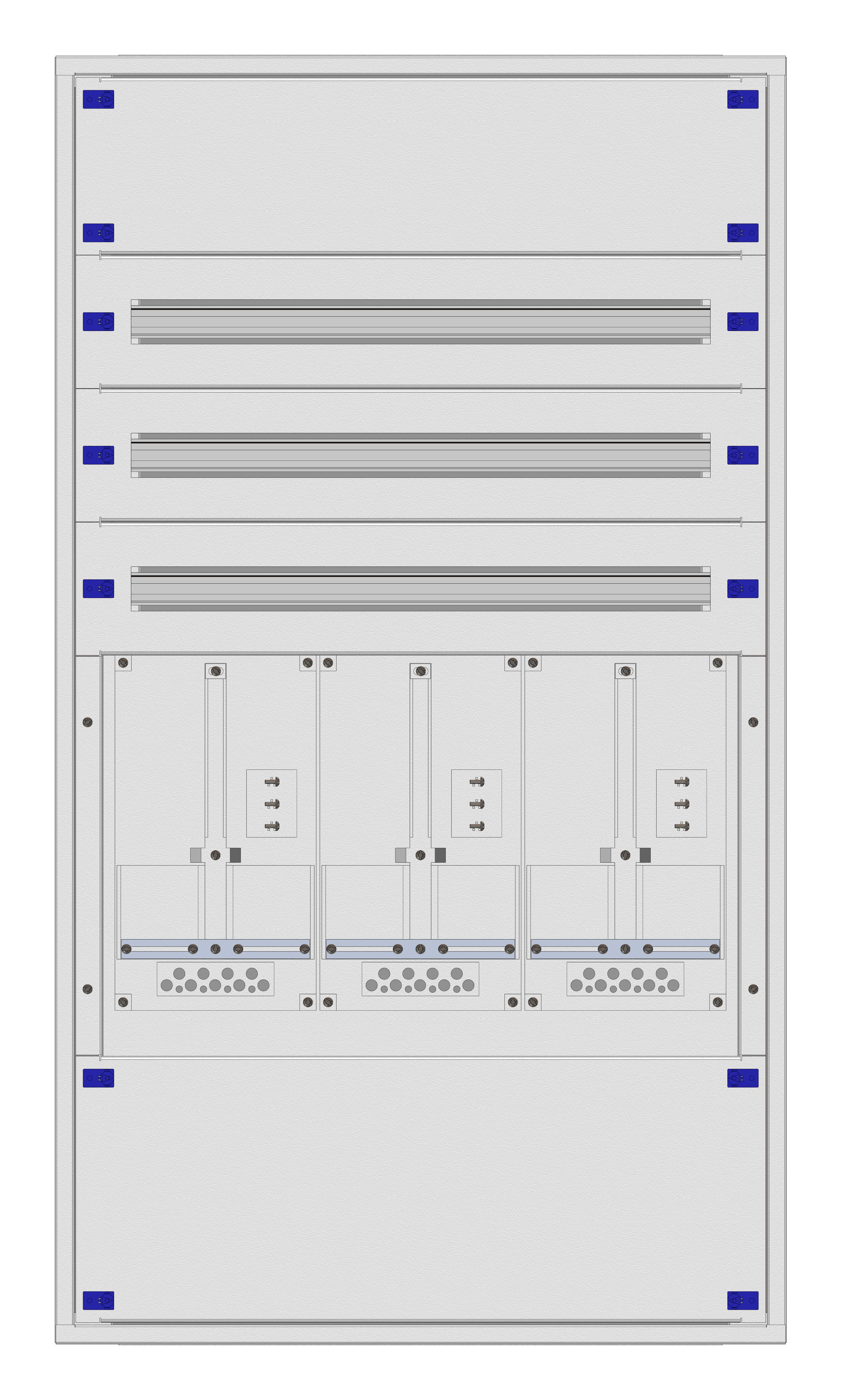 1 Stk Aufputz-Zählerverteiler 3A-28E/TIR 3ZP, H1380B810T250mm IL160328TS