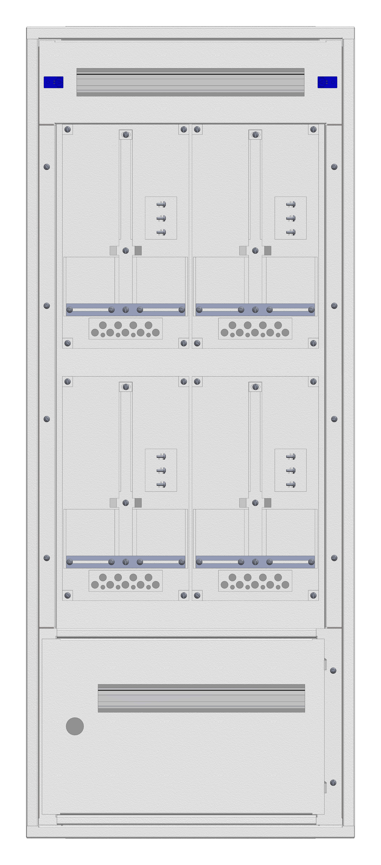 1 Stk Aufputz-Zählerverteiler 2A-28G/STMK 4ZP, H1380B590T250mm IL162228GS