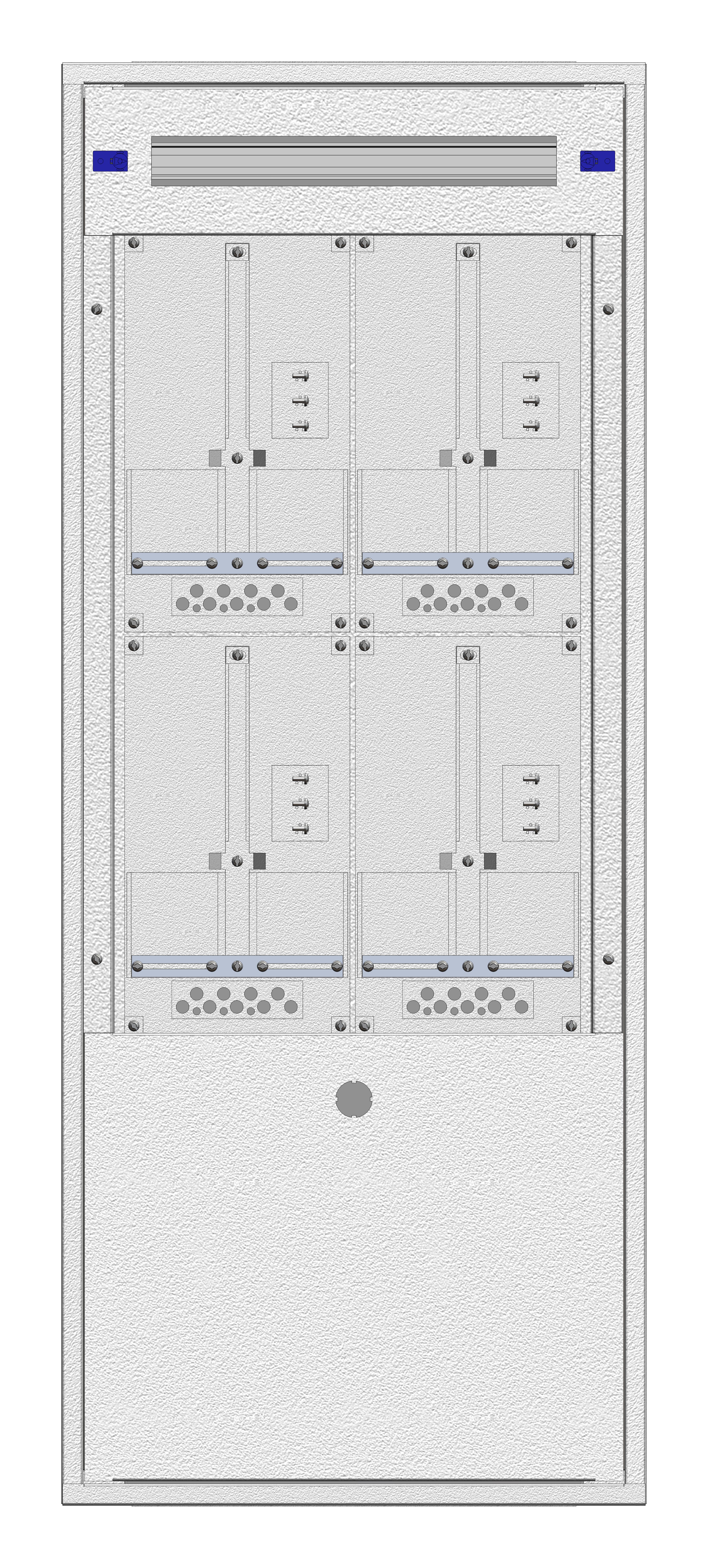 1 Stk Aufputz-Zählerverteiler 2A-28G/NOE 4ZP, H1380B590T250mm IL162228NS
