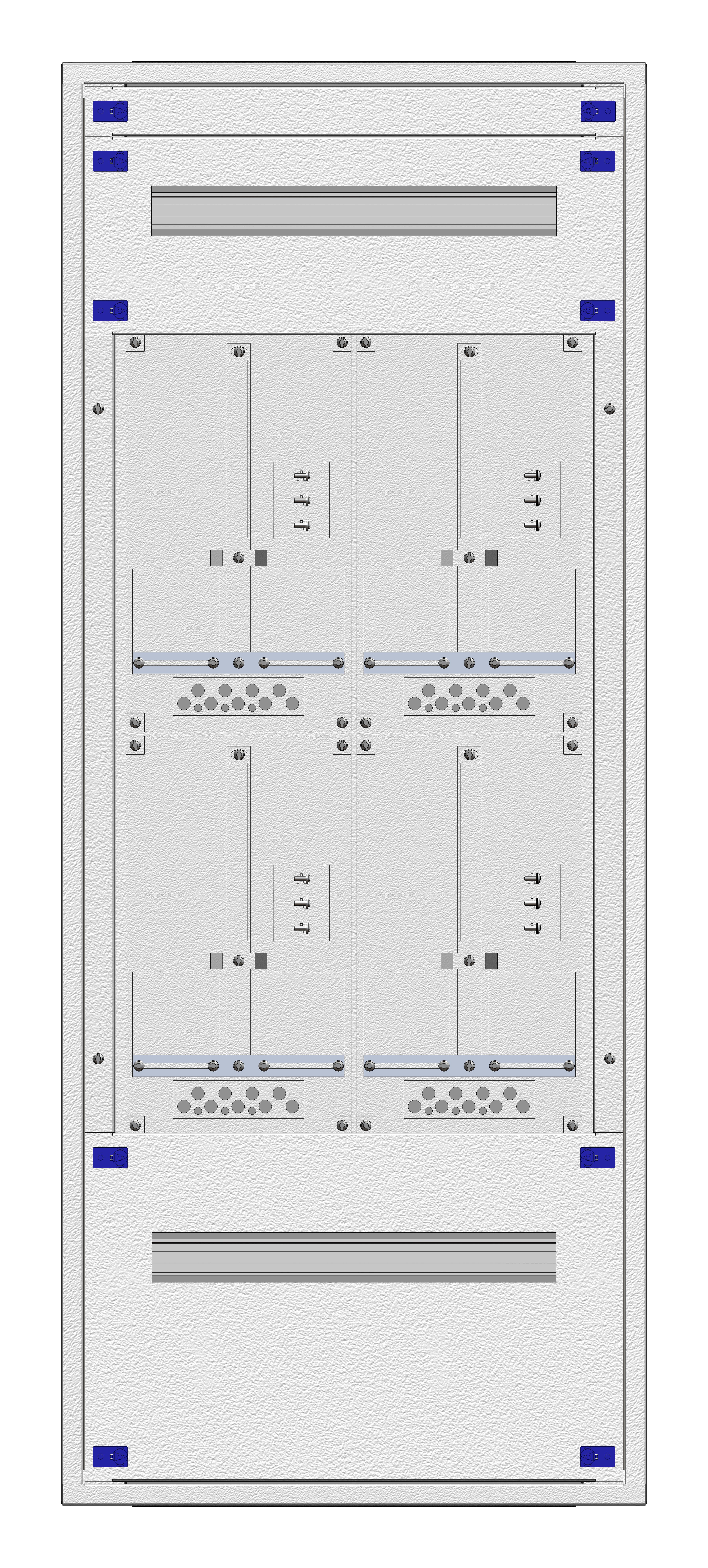 1 Stk Aufputz-Zählerverteiler 2A-28G/OOE 4ZP, H1380B590T250mm IL162228OS