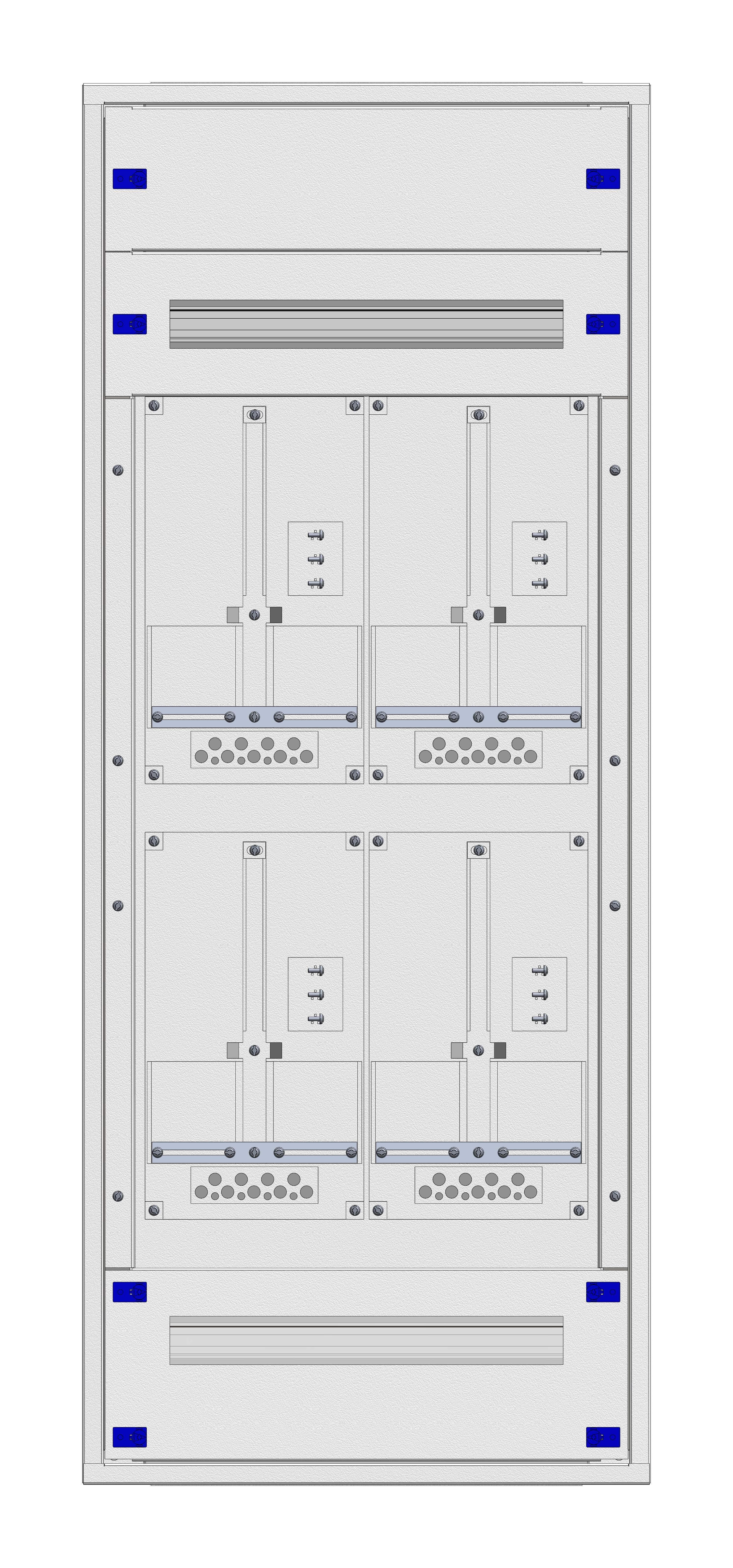 1 Stk Aufputz-Zählerverteiler 2A-28G/VBG 4ZP, H1380B590T250mm IL162228VS