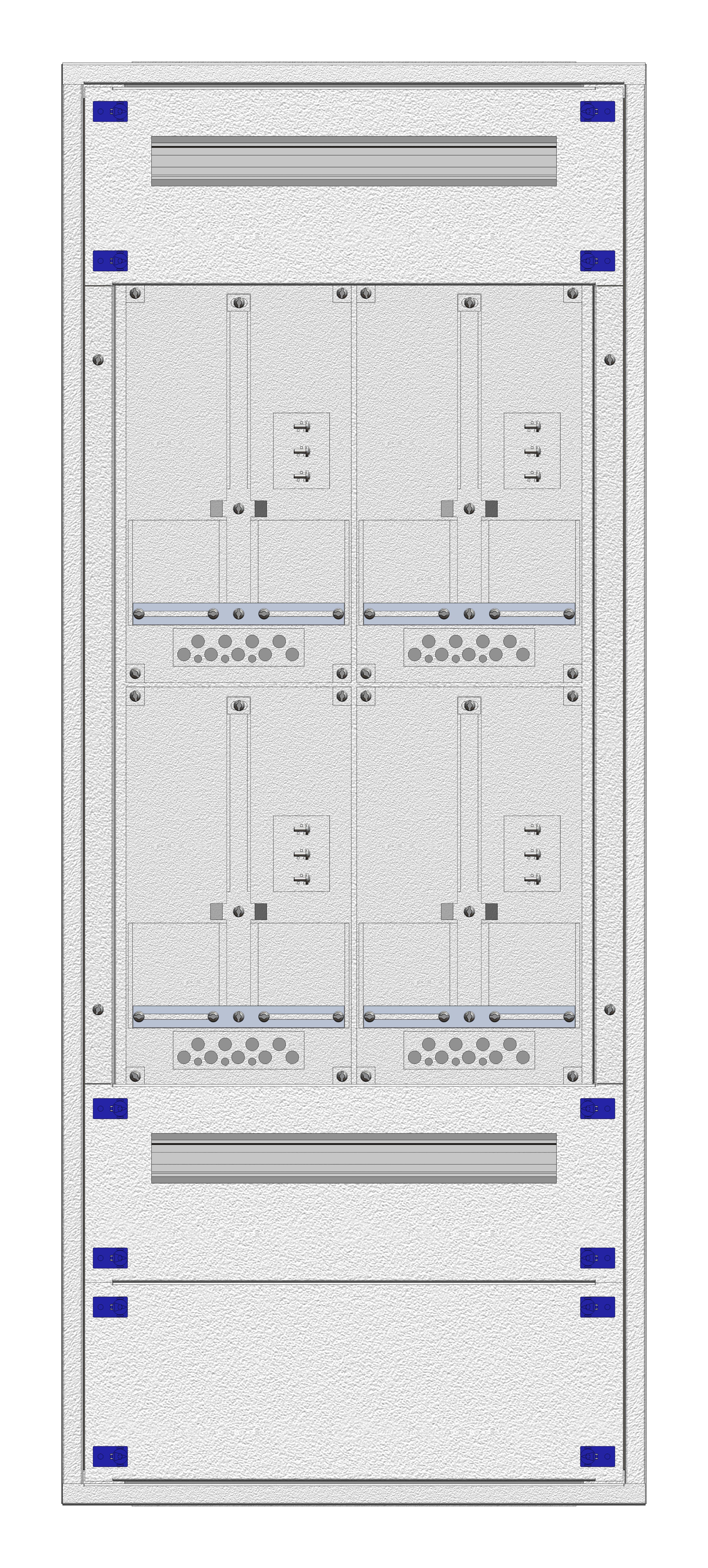 1 Stk Aufputz-Zählerverteiler 2A-28G/WIEN 4ZP, H1380B590T250mm IL162228WS