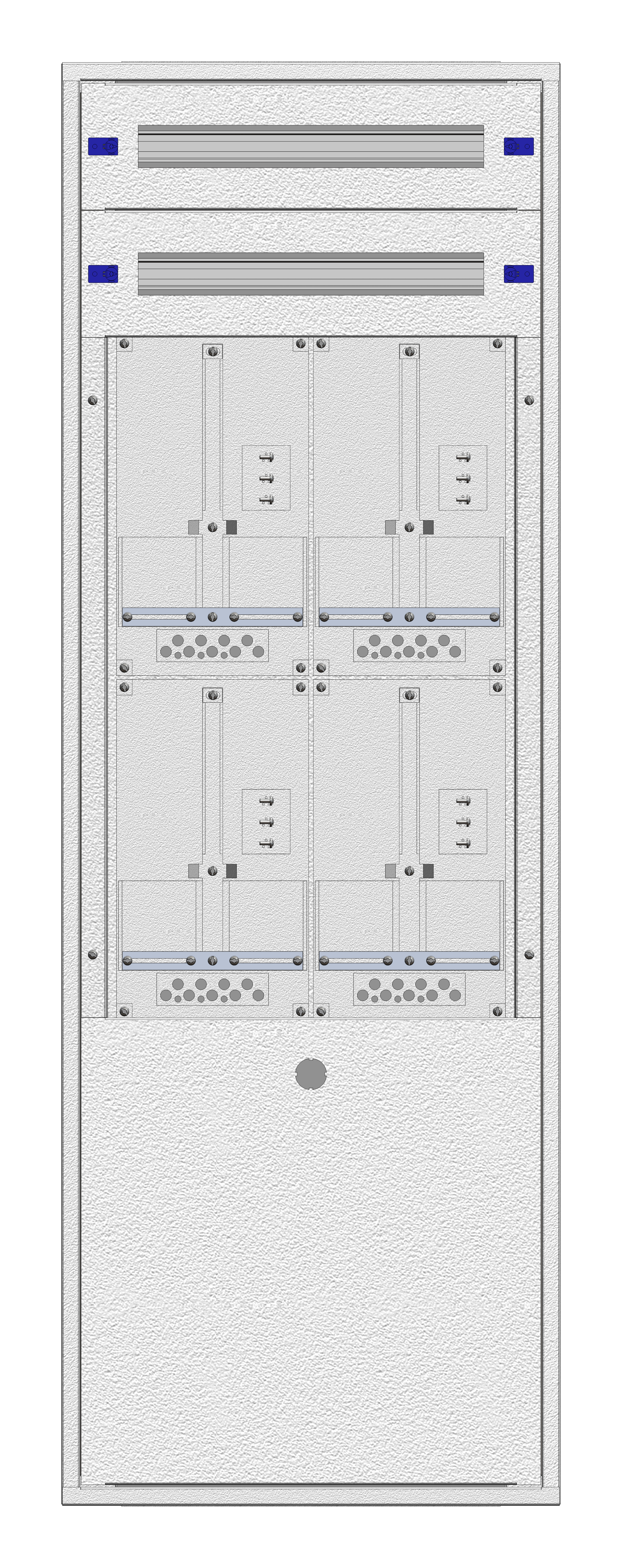 1 Stk Aufputz-Zählerverteiler 2A-33G/BGLD 4ZP, H1605B590T250mm IL162233BS