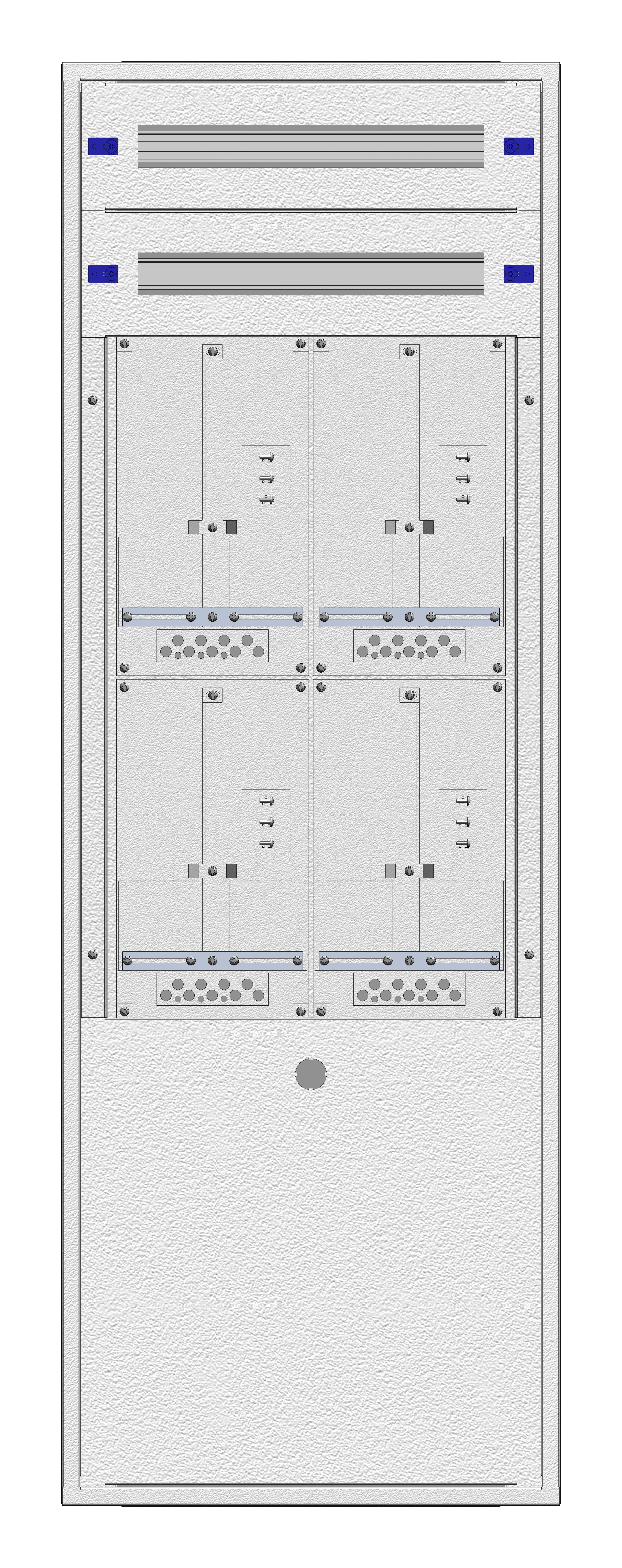 1 Stk Aufputz-Zählerverteiler 2A-33G/NOE 4ZP, H1605B590T250mm IL162233NS