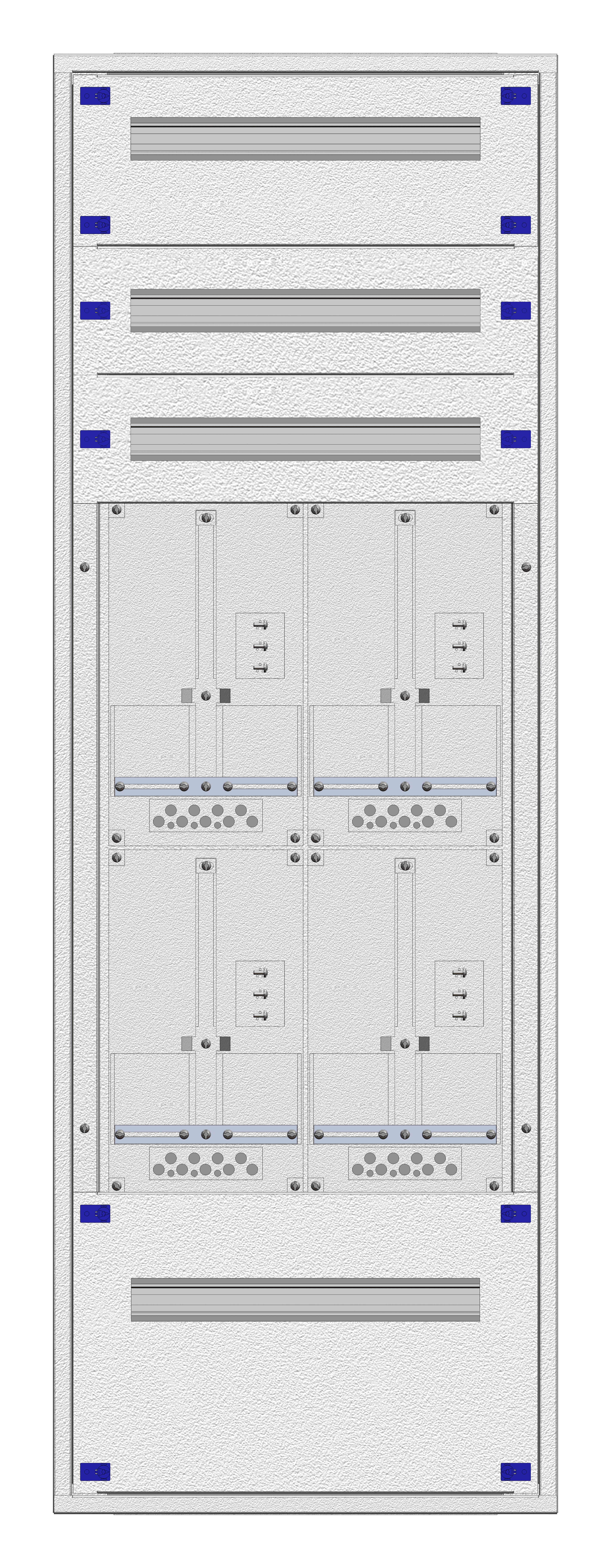 1 Stk Aufputz-Zählerverteiler 2A-33G/OOE 4ZP, H1605B590T250mm IL162233OS