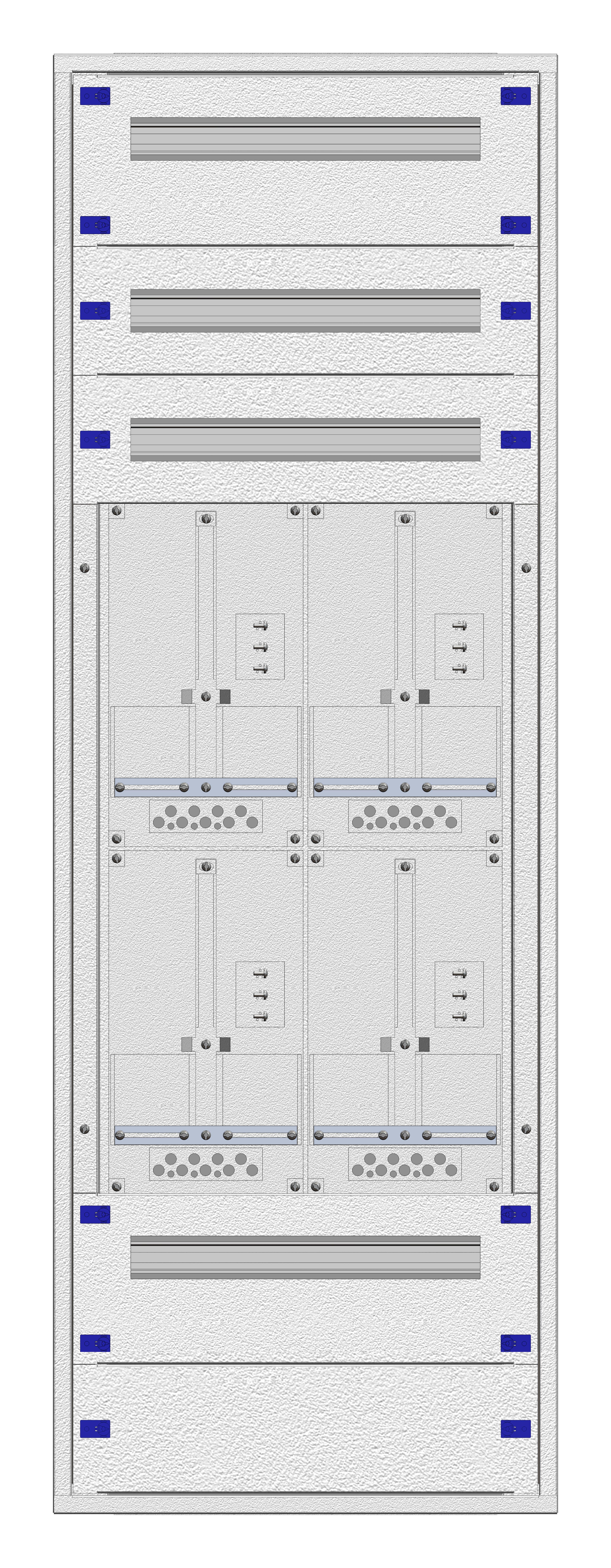 1 Stk Aufputz-Zählerverteiler 2A-33G/WIEN 4ZP, H1605B590T250mm IL162233WS