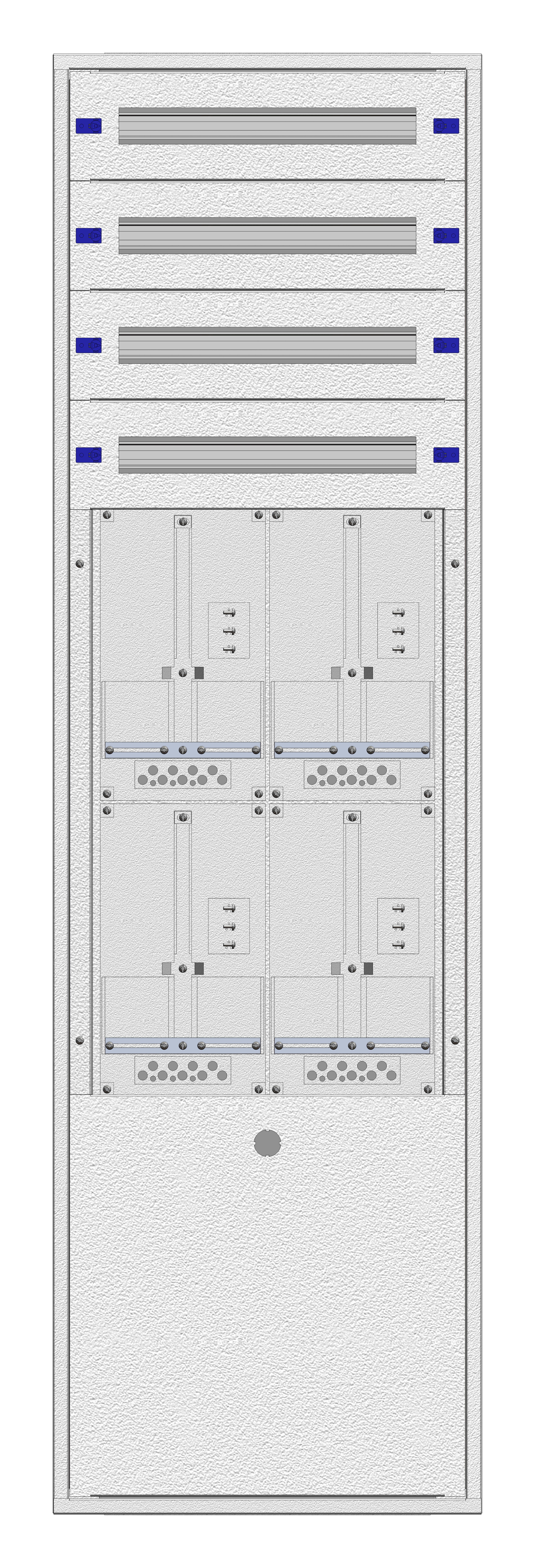 1 Stk Aufputz-Zählerverteiler 2A-39G/BGLD 4ZP, H1885B590T250mm IL162239BS