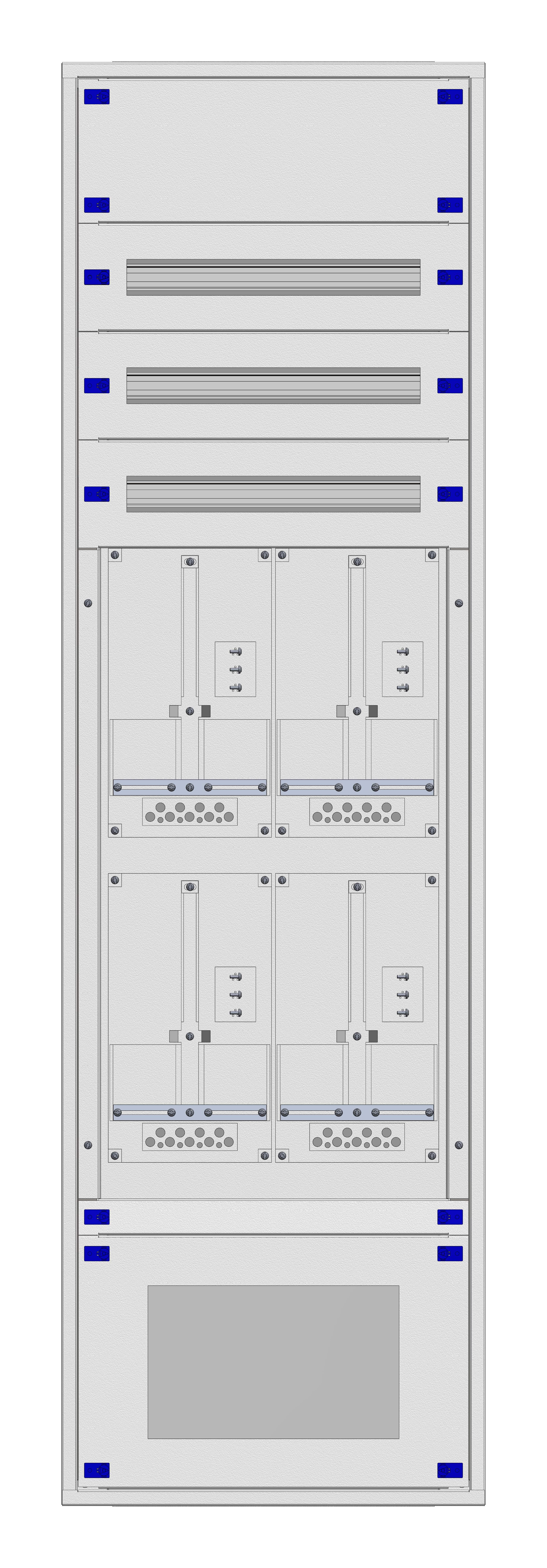 1 Stk Aufputz-Zählerverteiler 2A-39G/VBG 4ZP, H1885B590T250mm IL162239VS