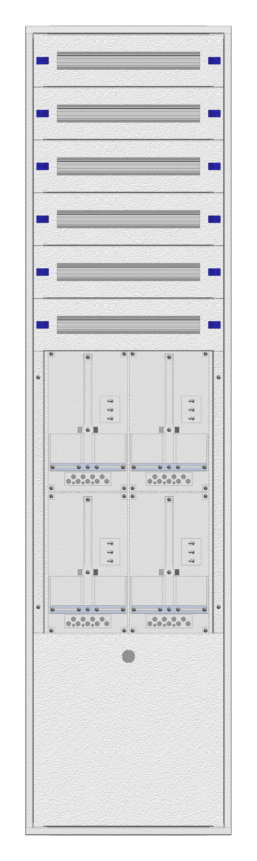 1 Stk Aufputz-Zählerverteiler 2A-45G/NOE 4ZP, H2160B590T250mm IL162245NS