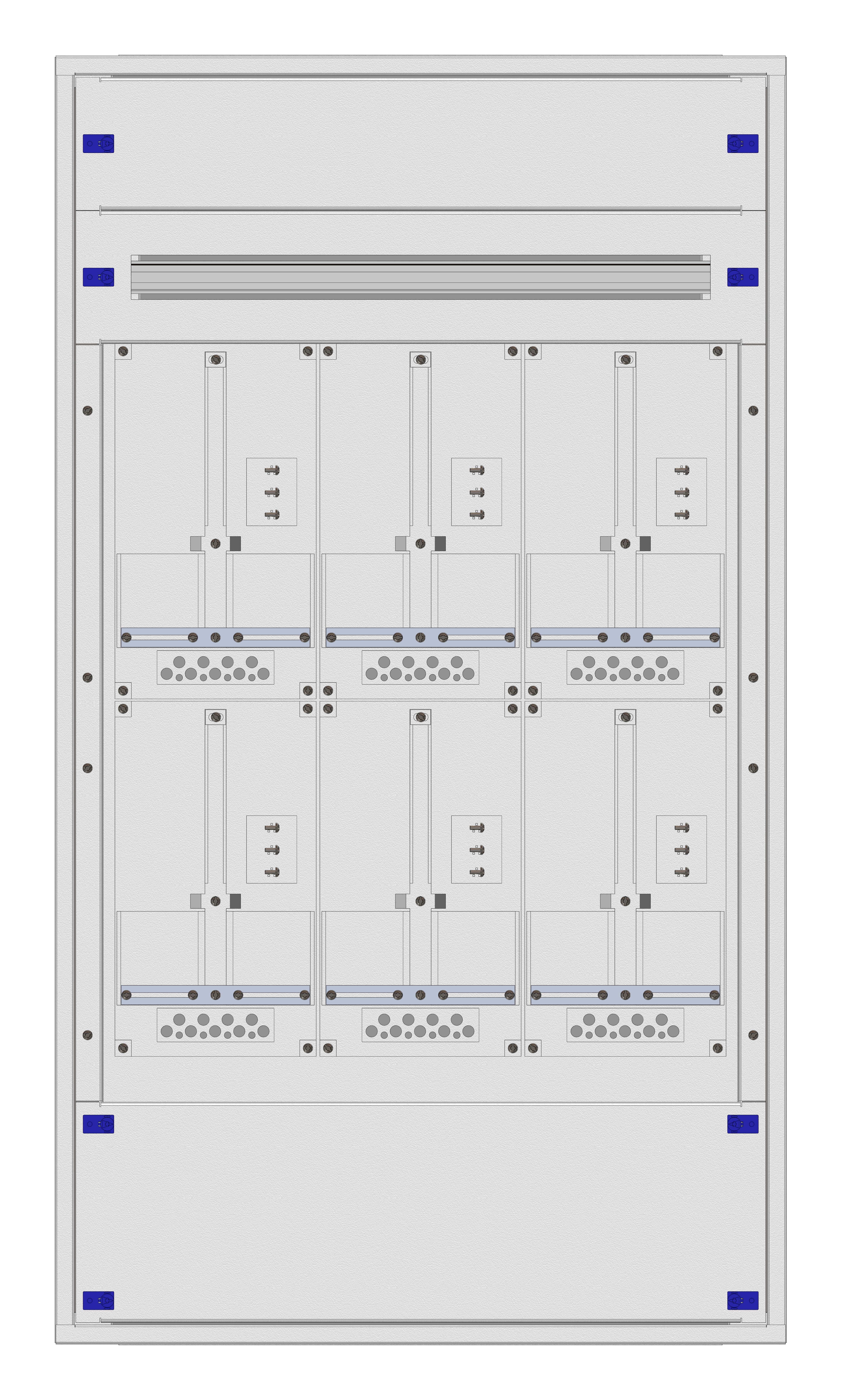 1 Stk Aufputz-Zählerverteiler 3A-28G/TIR 6ZP, H1380B810T250mm IL162328TS