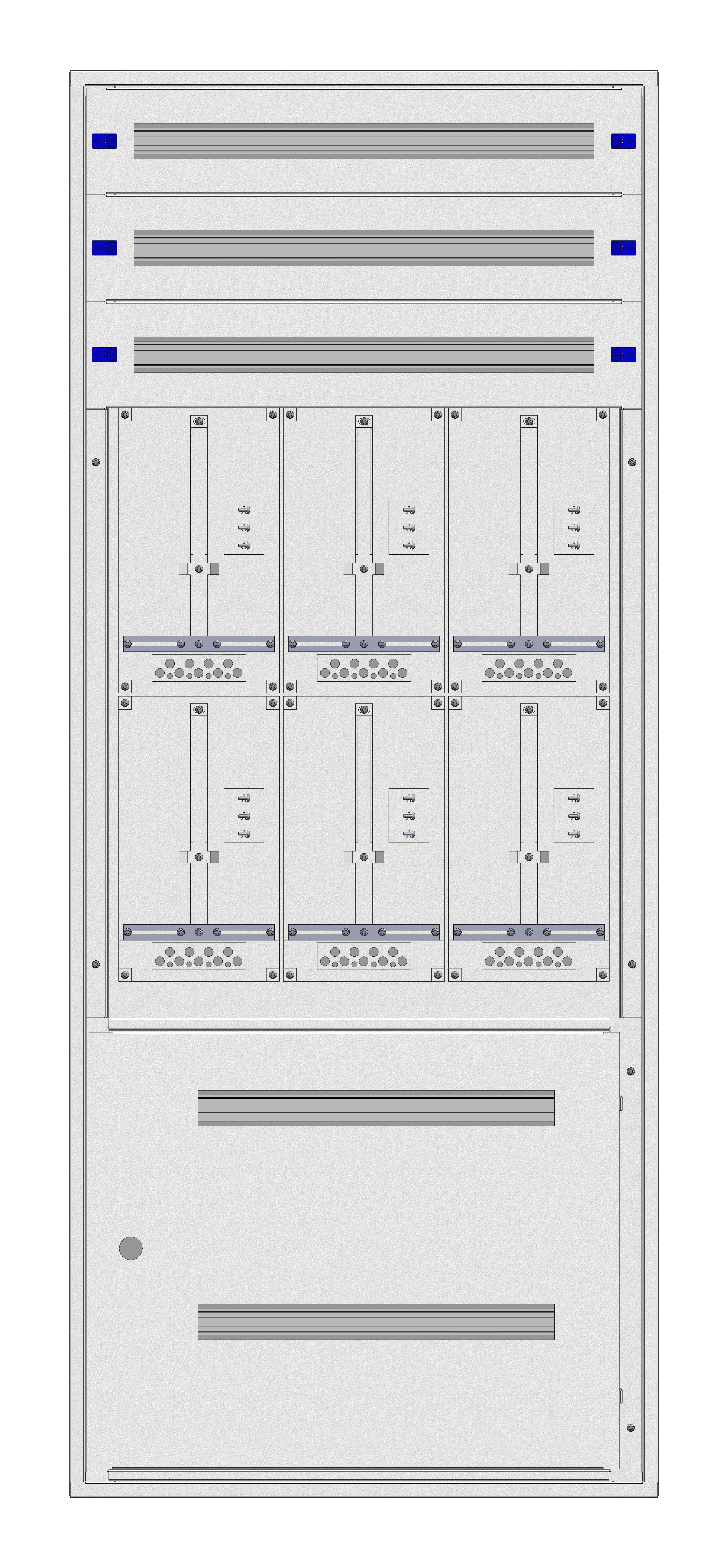 1 Stk Aufputz-Zählerverteiler 3A-39G/STMK 6ZP, H1885B810T250mm IL162339GS