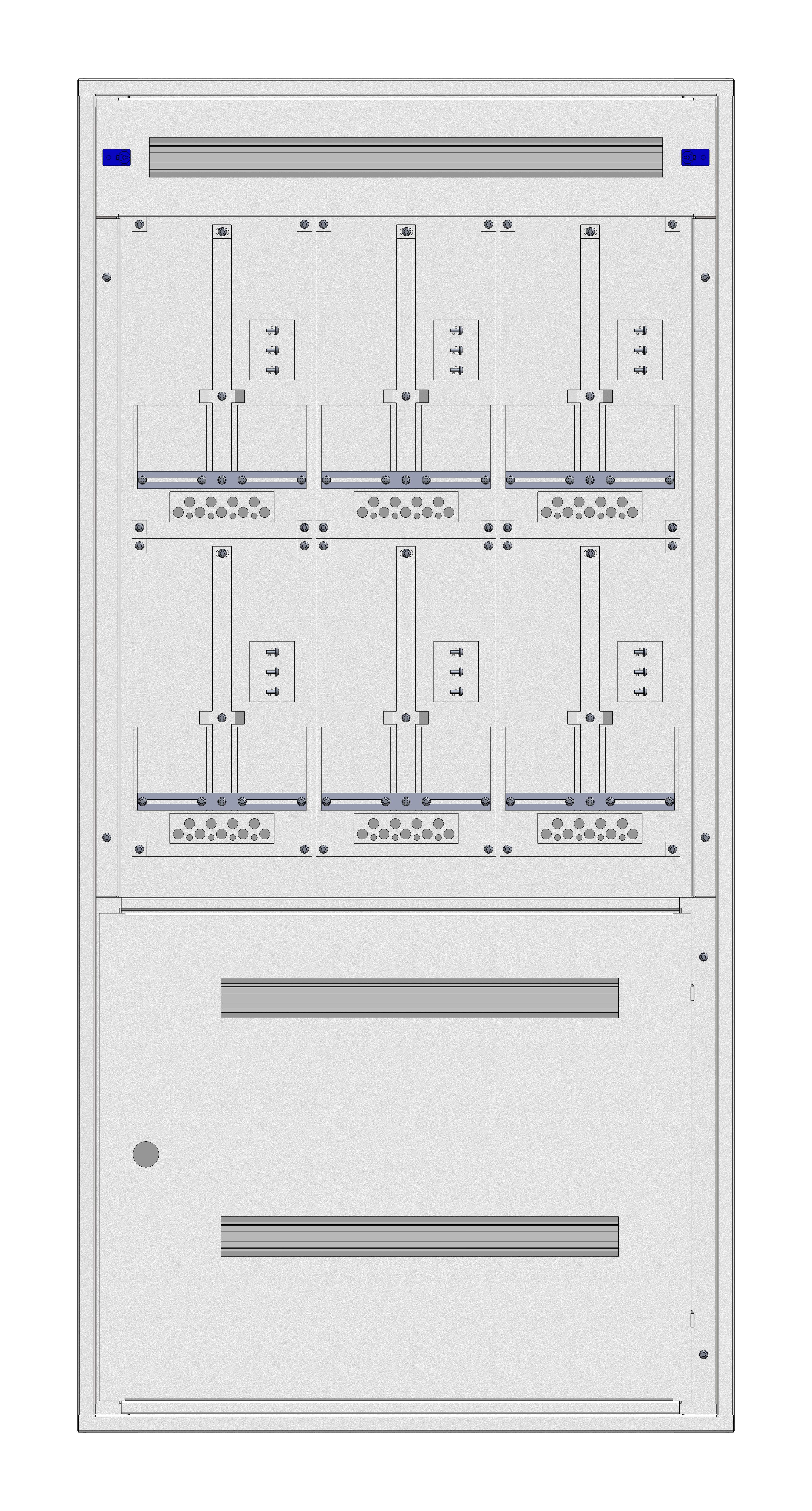 1 Stk Aufputz-Zählerverteiler 3A-33G/STMK 6ZP, H1605B810T250mm V2 IL162383GS