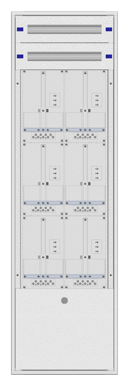 1 Stk Aufputz-Zählerverteiler 2A-39M/BGLD 6ZP, H1885B590T250mm IL168239BS