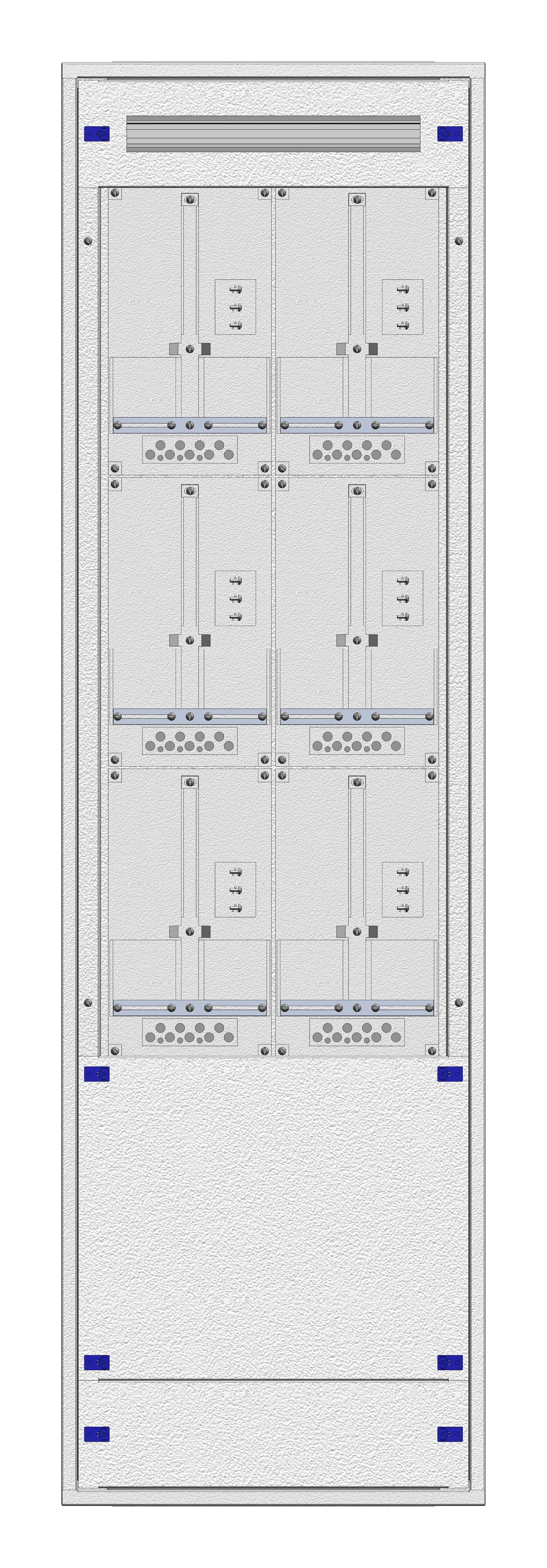 1 Stk Aufputz-Zählerverteiler 2A-39M/WIEN 6ZP, H1885B590T250mm IL168239WS