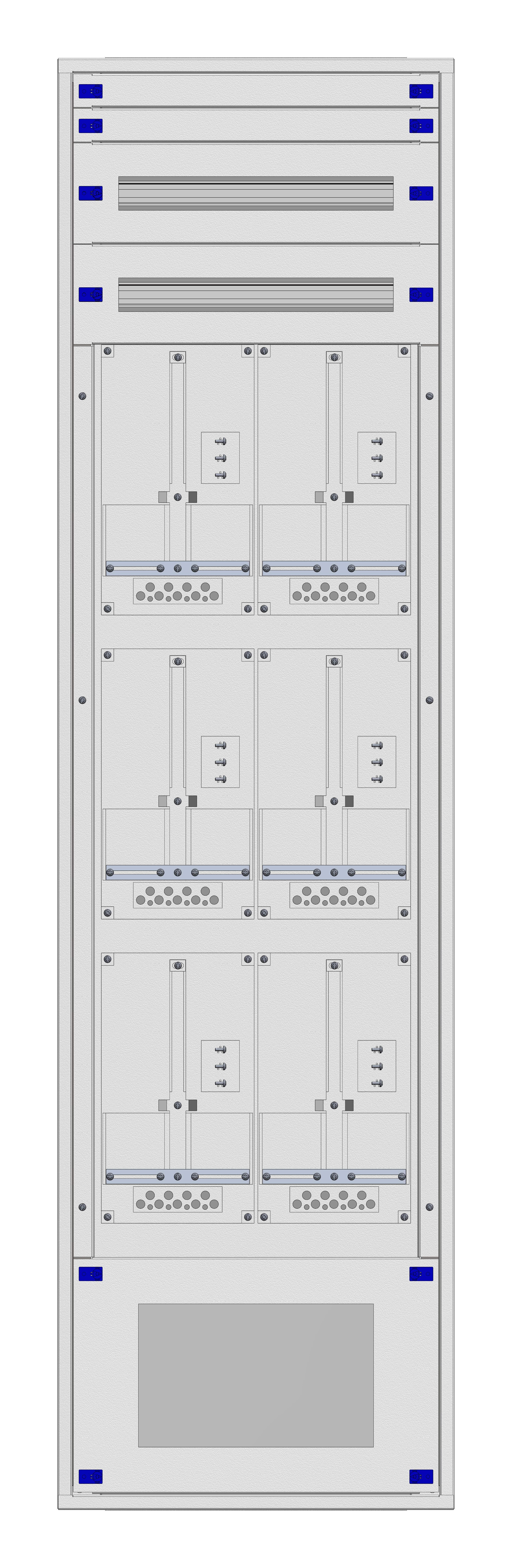 1 Stk Aufputz-Zählerverteiler 2A-42M/VBG 6ZP, H2025B590T250mm IL168242VS