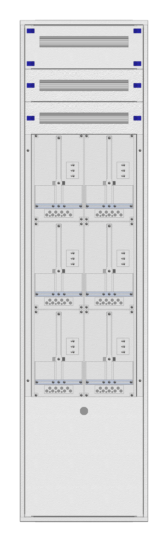 1 Stk Aufputz-Zählerverteiler 2A-45M/BGLD 6ZP, H2160B590T250mm IL168245BS