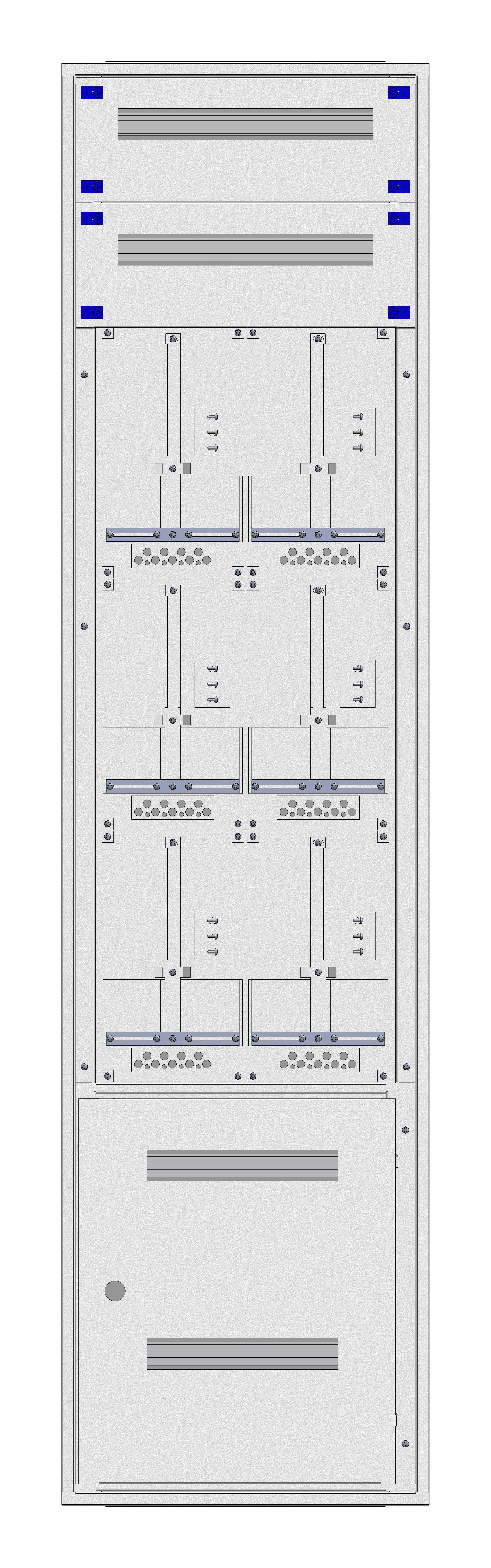 1 Stk Aufputz-Zählerverteiler 2A-45M/STMK 6ZP, H2160B590T250mm IL168245GS