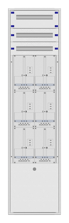 1 Stk Aufputz-Zählerverteiler 2A-45M/NOE 6ZP, H2160B590T250mm IL168245NS