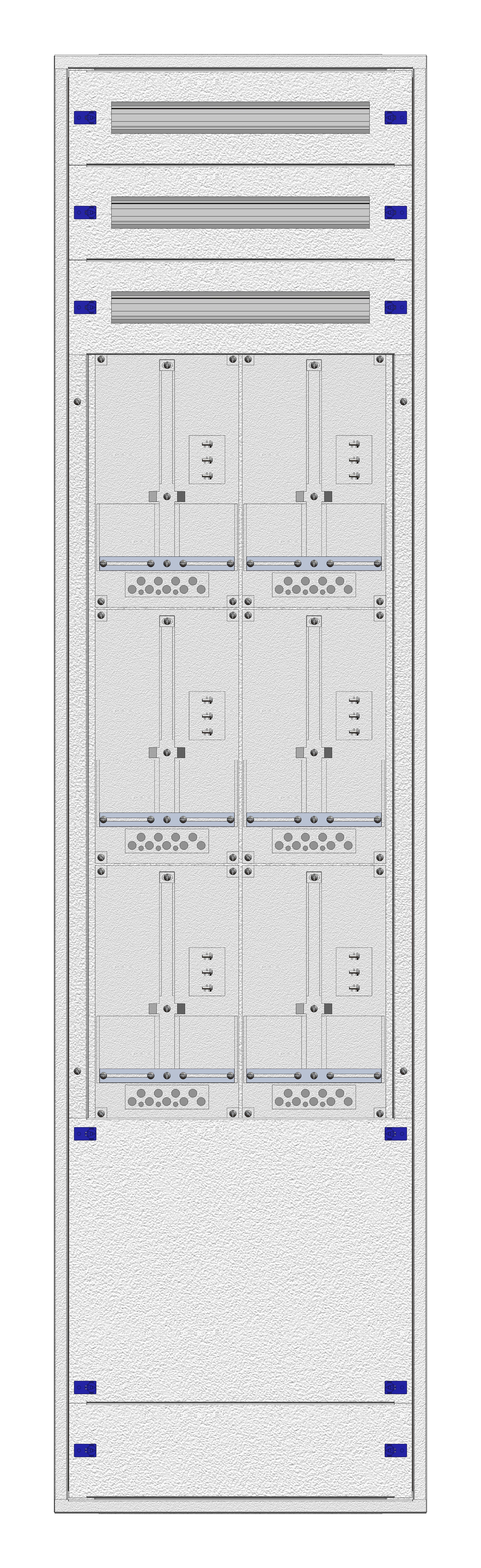 1 Stk Aufputz-Zählerverteiler 2A-45M/WIEN 6ZP, H2160B590T250mm IL168245WS