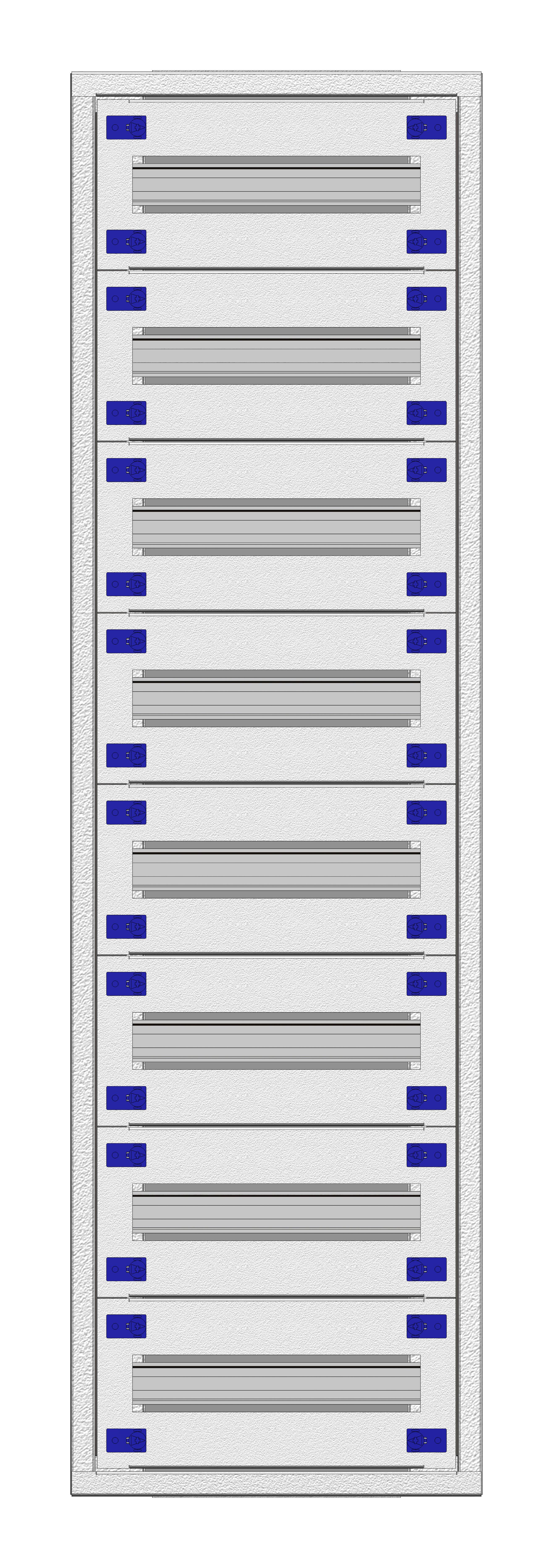 1 Stk Aufputz-Installationsverteiler 1A-24K, H1195B380T250mm IL172124AS