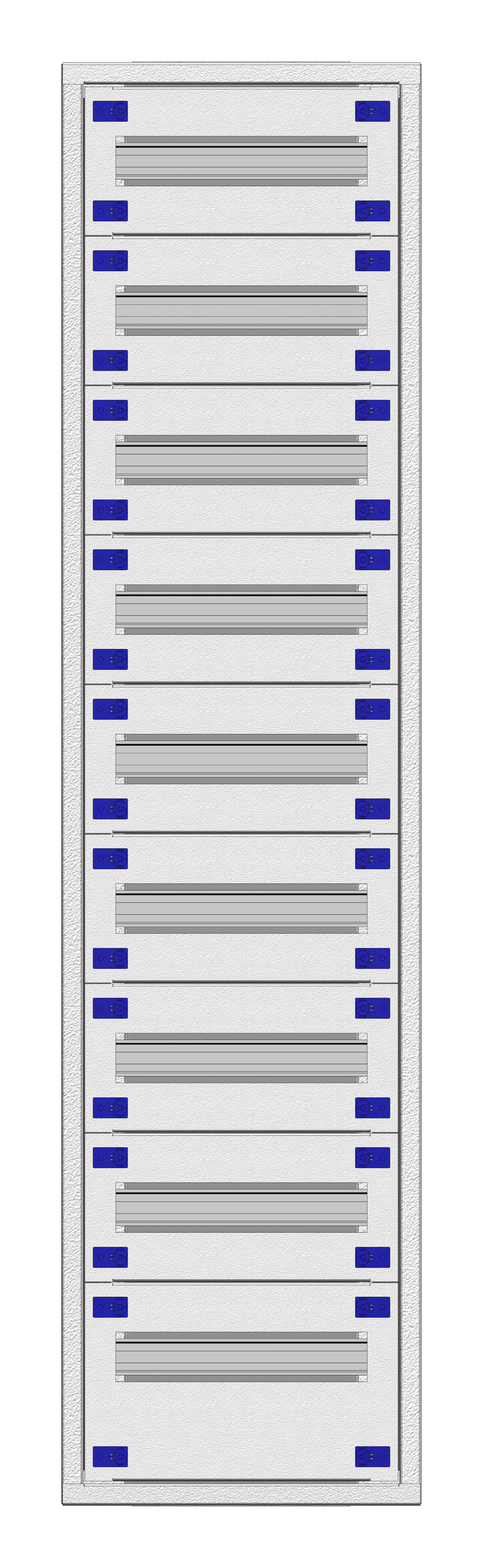 1 Stk Aufputz-Installationsverteiler 1A-28K, H1380B380T250mm IL172128AS