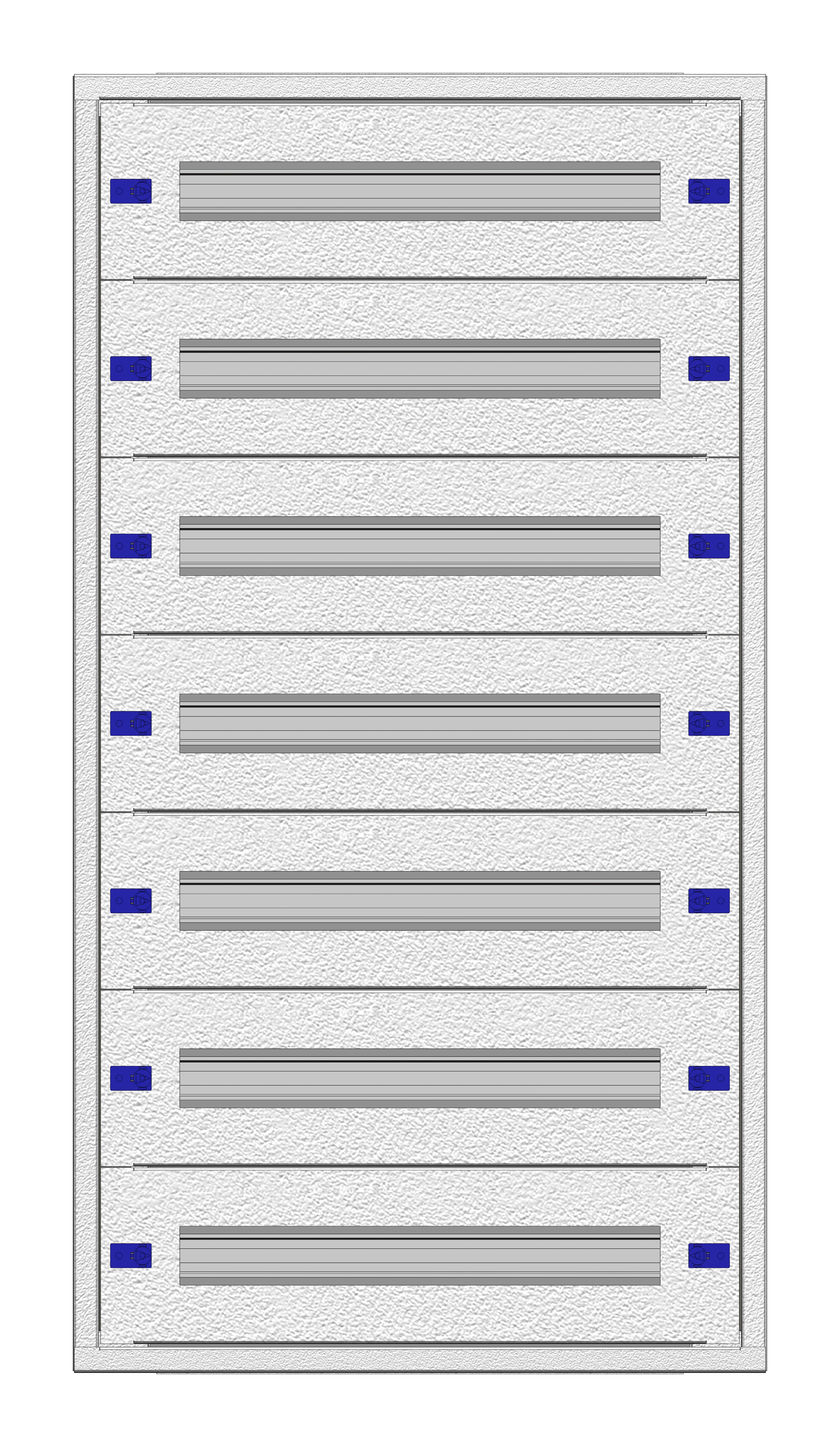 1 Stk Aufputz-Installationsverteiler 2A-21L, H1055B590T250mm IL172221AK