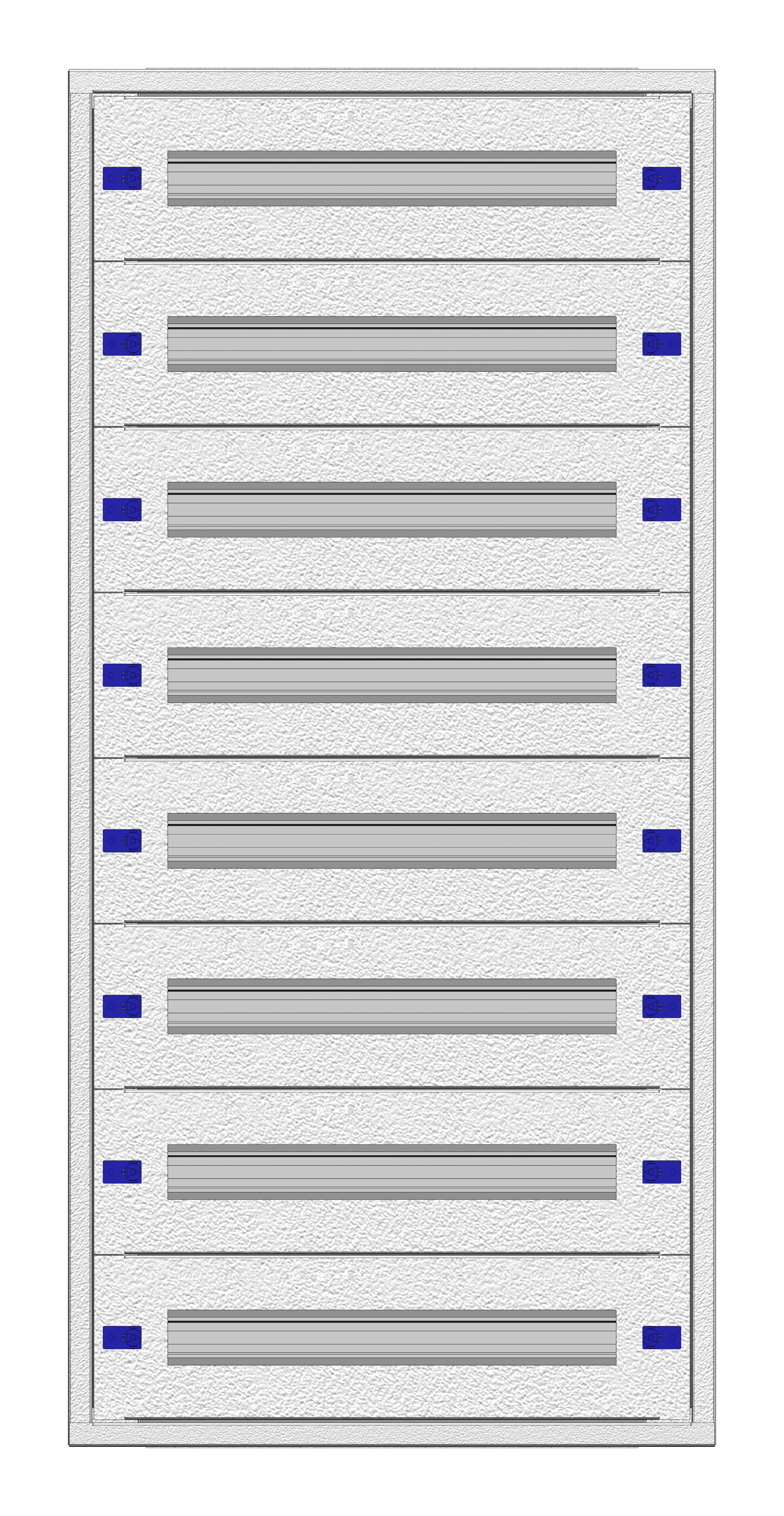 1 Stk Aufputz-Installationsverteiler 2A-24L, H1195B590T250mm IL172224AK