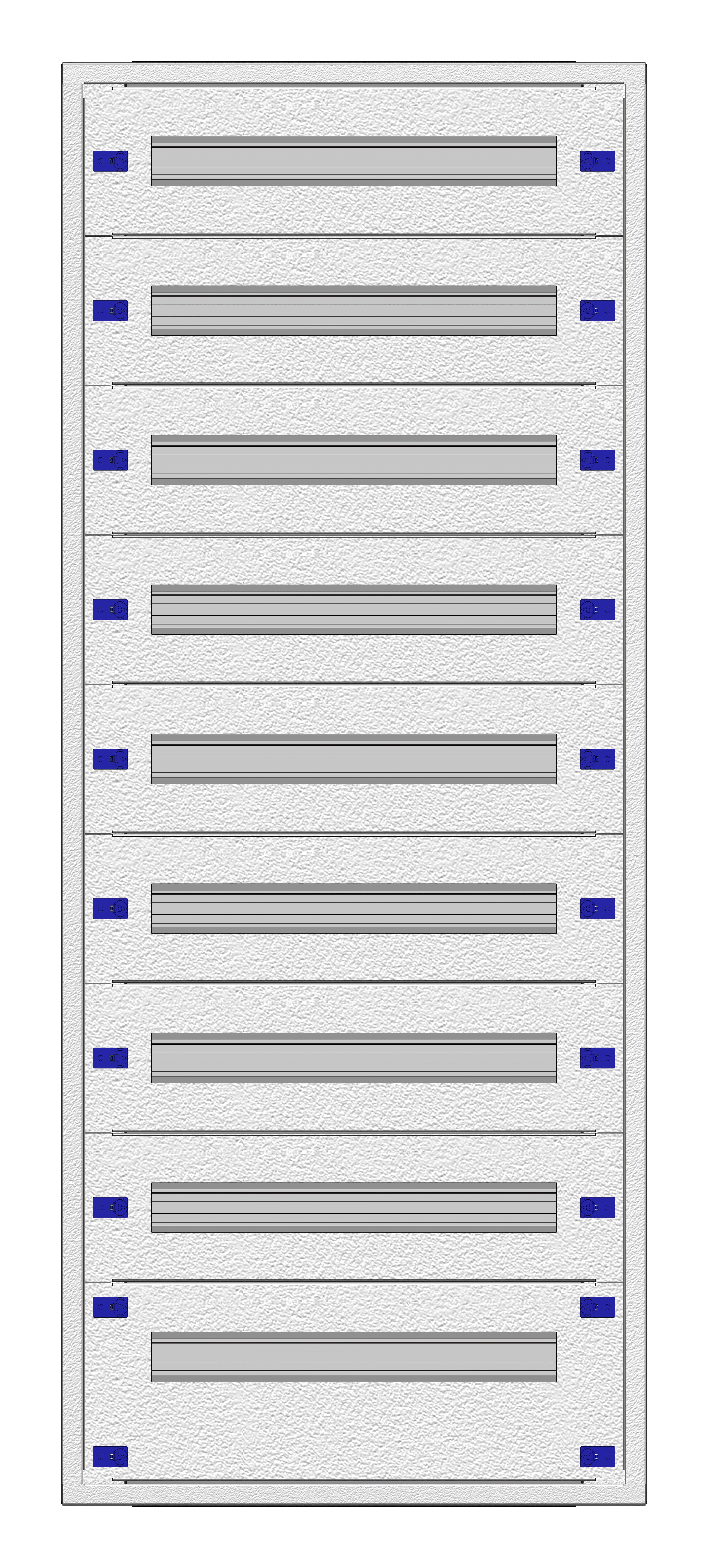 1 Stk Aufputz-Installationsverteiler 2A-28L, H1380B590T250mm IL172228AK