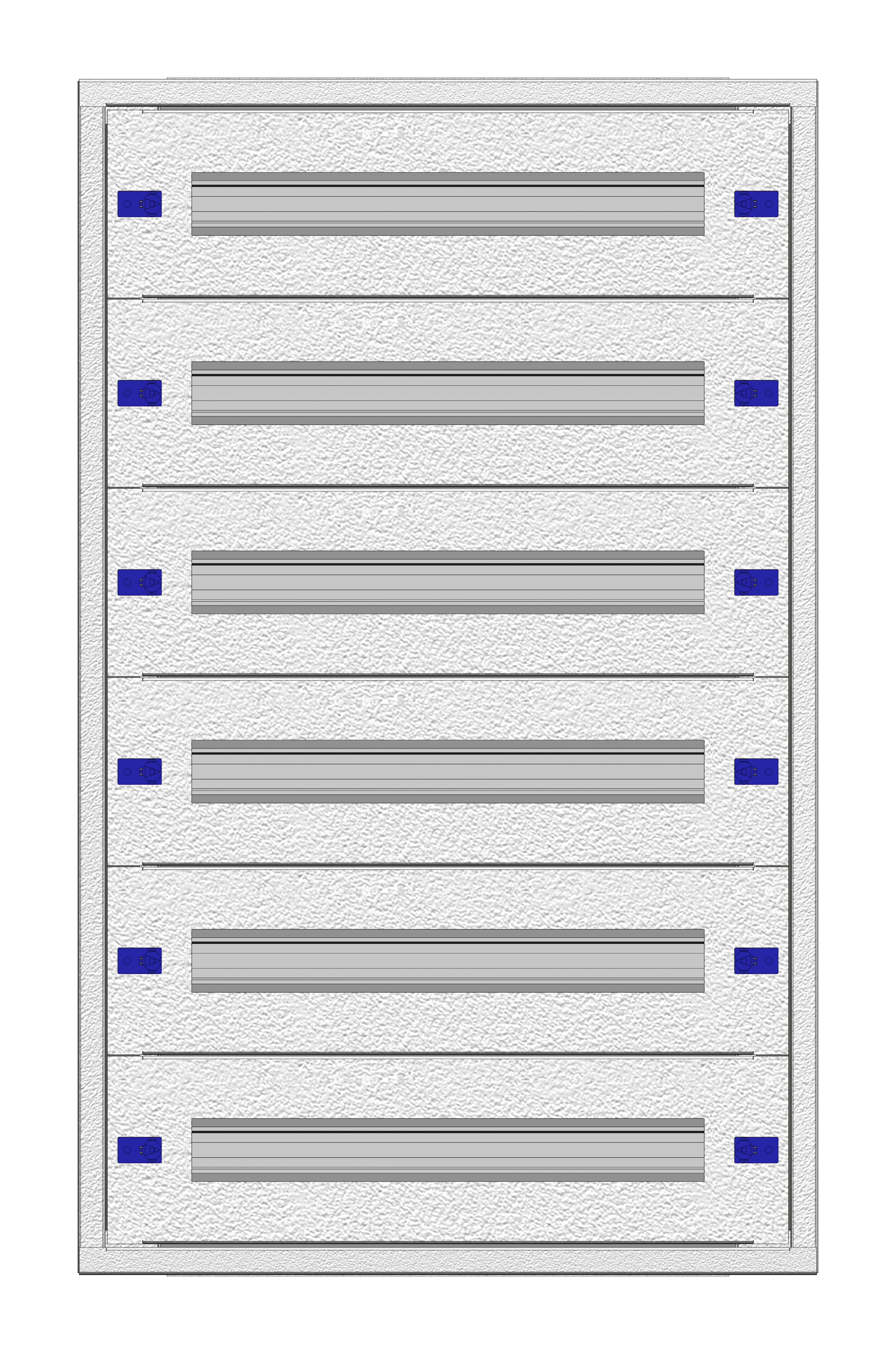 1 Stk Aufputz-Installationsverteiler 2A-18K, H915B590T100mm flach IL172918AS