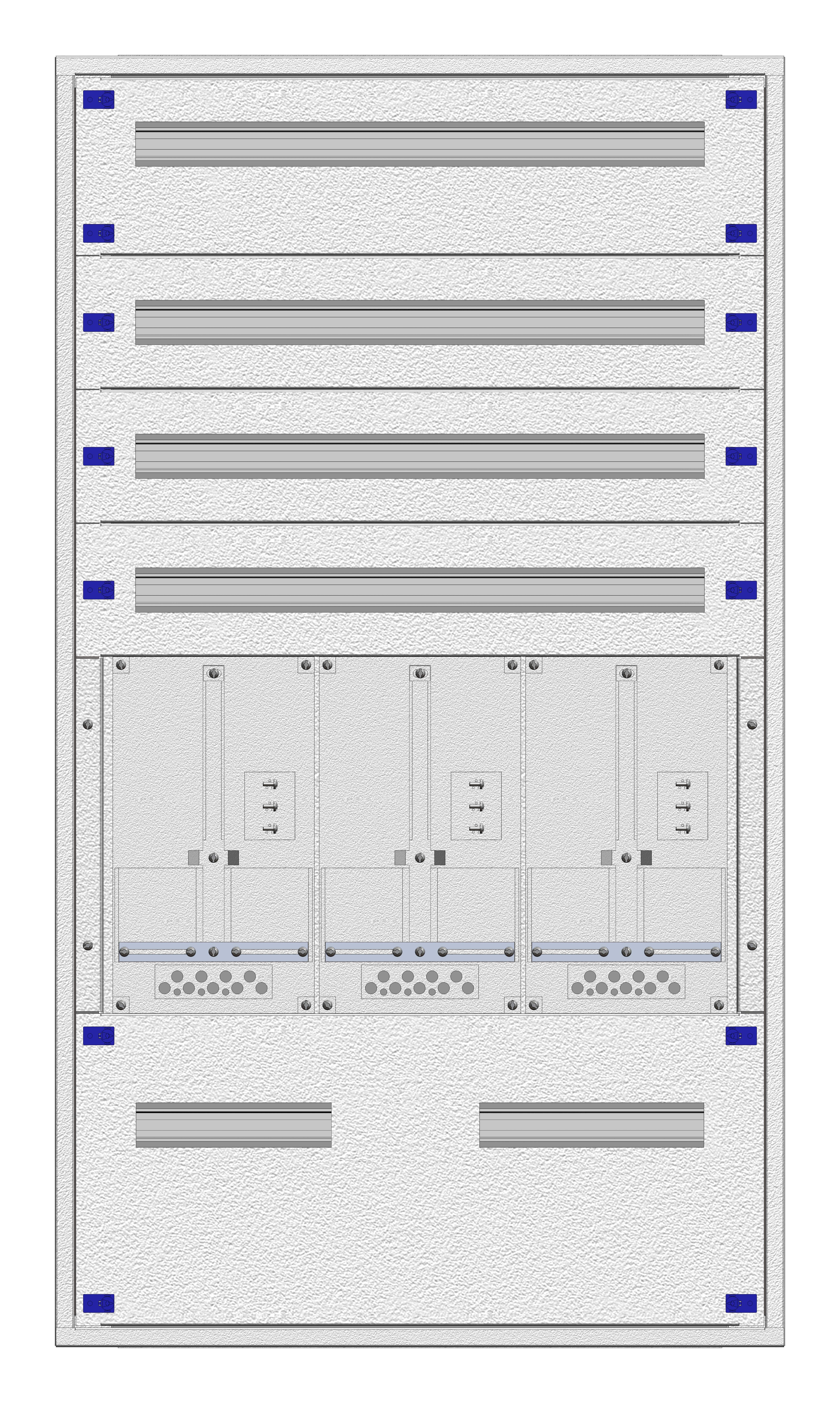 1 Stk Eco-AP-Verteiler 3A28 + Rückwand OÖ/SBG– RAL7035 IL865328--
