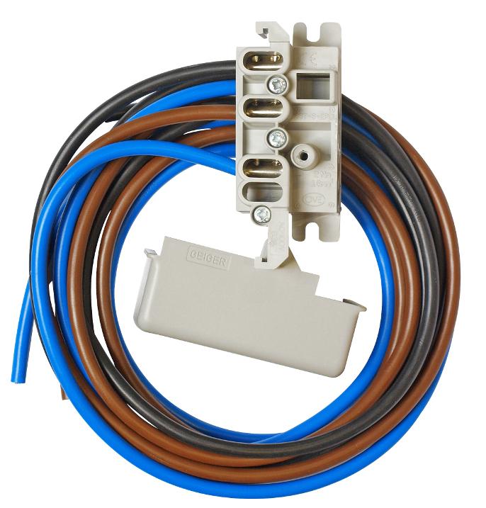 1 Stk 2-polige Zähleranschlussklemme mit 1,5m Kabel 10mm² OÖ IL900241--