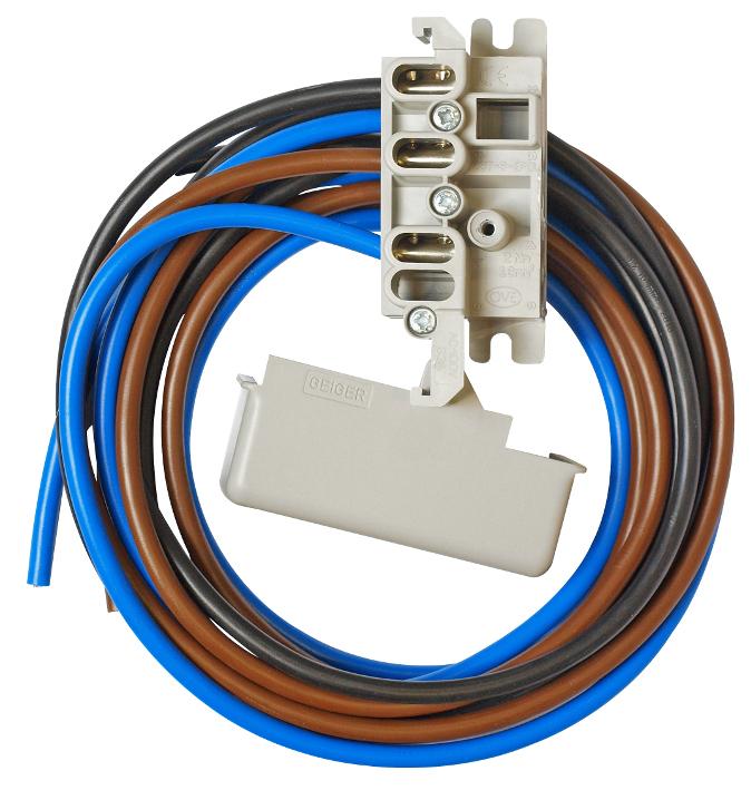 1 Stk 2-polige Zähleranschlussklemme mit 1m Kabel OÖ IL900243--