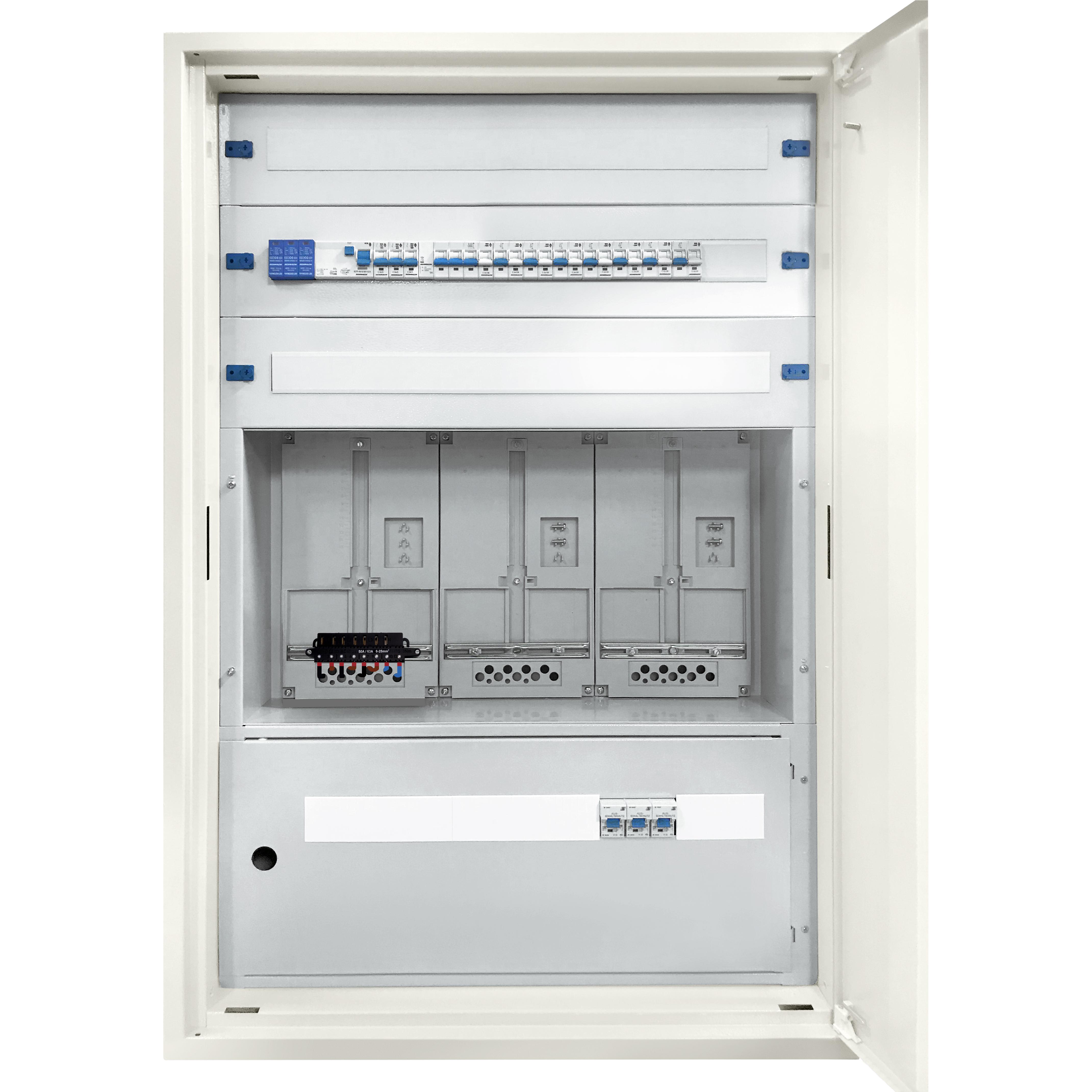 1 Stk ECO-UP-Verteiler verdrahtet 3U24 mit Mauerwanneneinsatz IL962324--