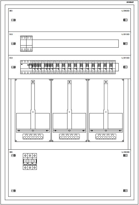 1 Stk Kärnten UP-Verteiler 3U24, verdrahtet K1 RAL9016 IL991324--
