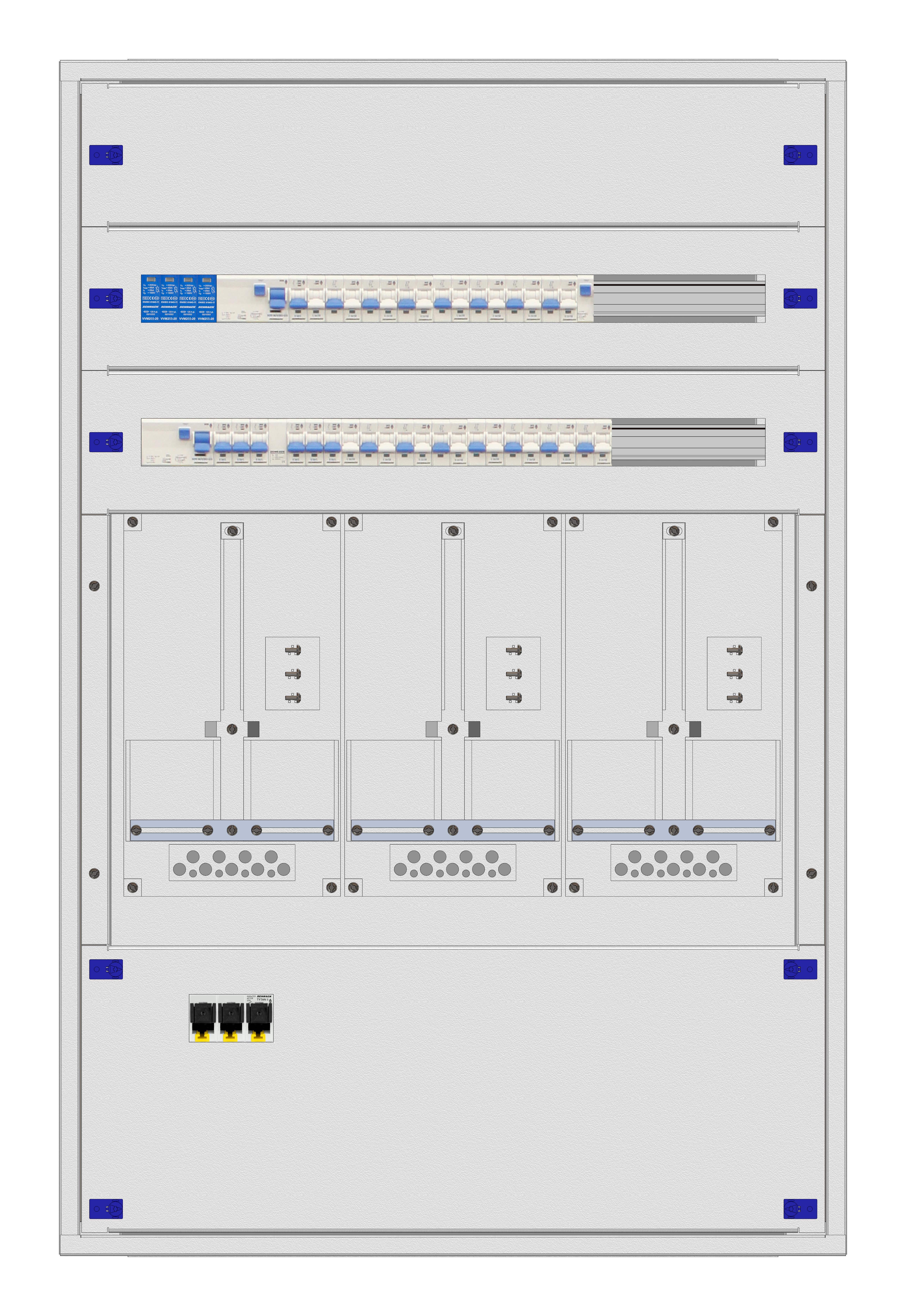 1 Stk Kärnten UP-Verteiler 3U24, verdrahtet K2 RAL9016 IL992324--