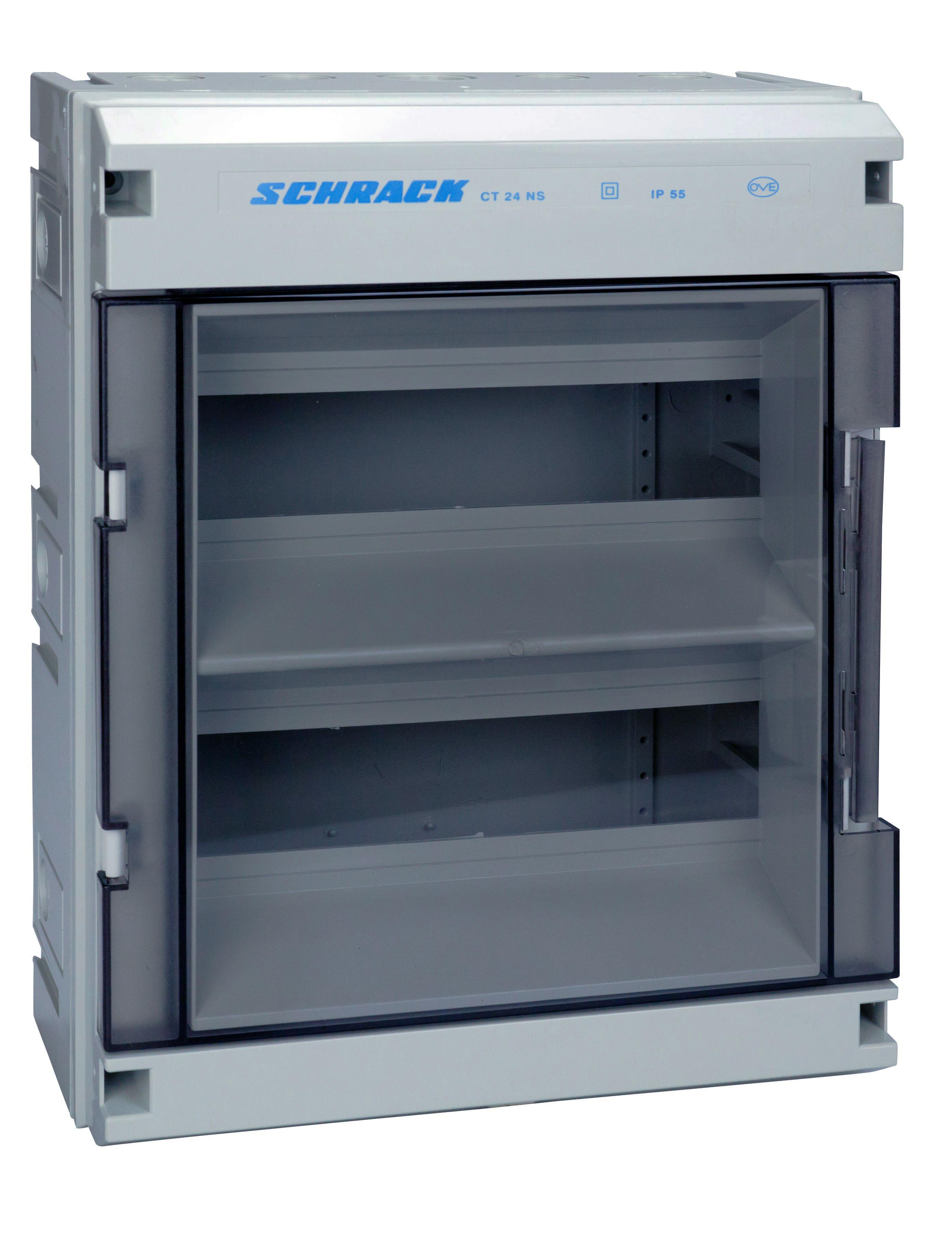 1 Stk Automatengehäuse, 24TE, 2-reihig mit Tür, RAL 7035, IP55 IM008151--